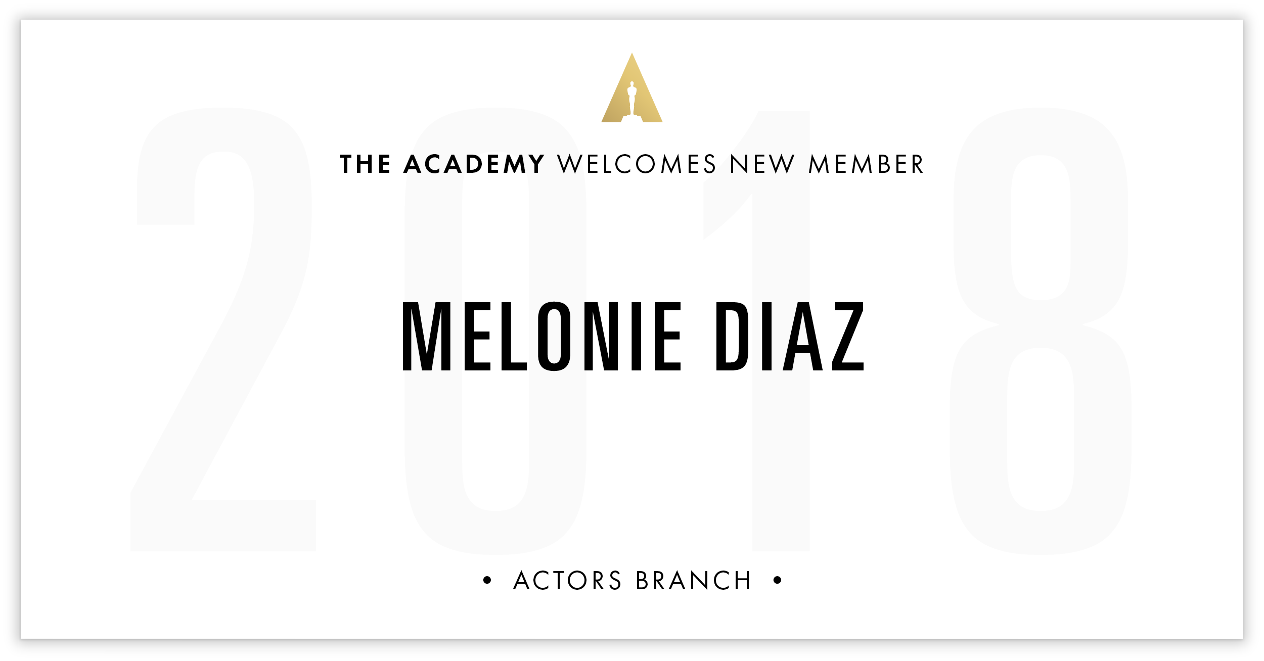 Melonie Diaz is invited!