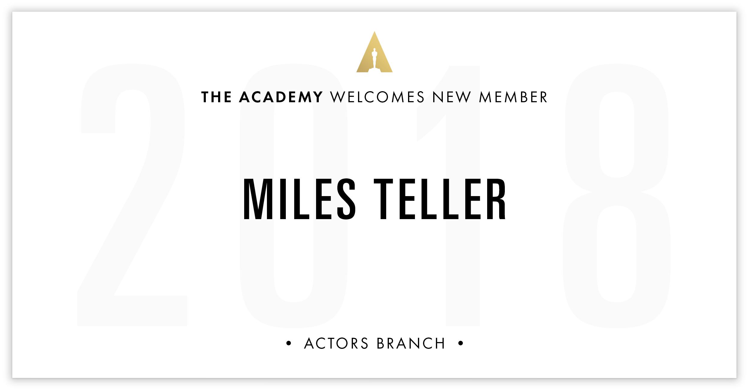 Miles Teller is invited!