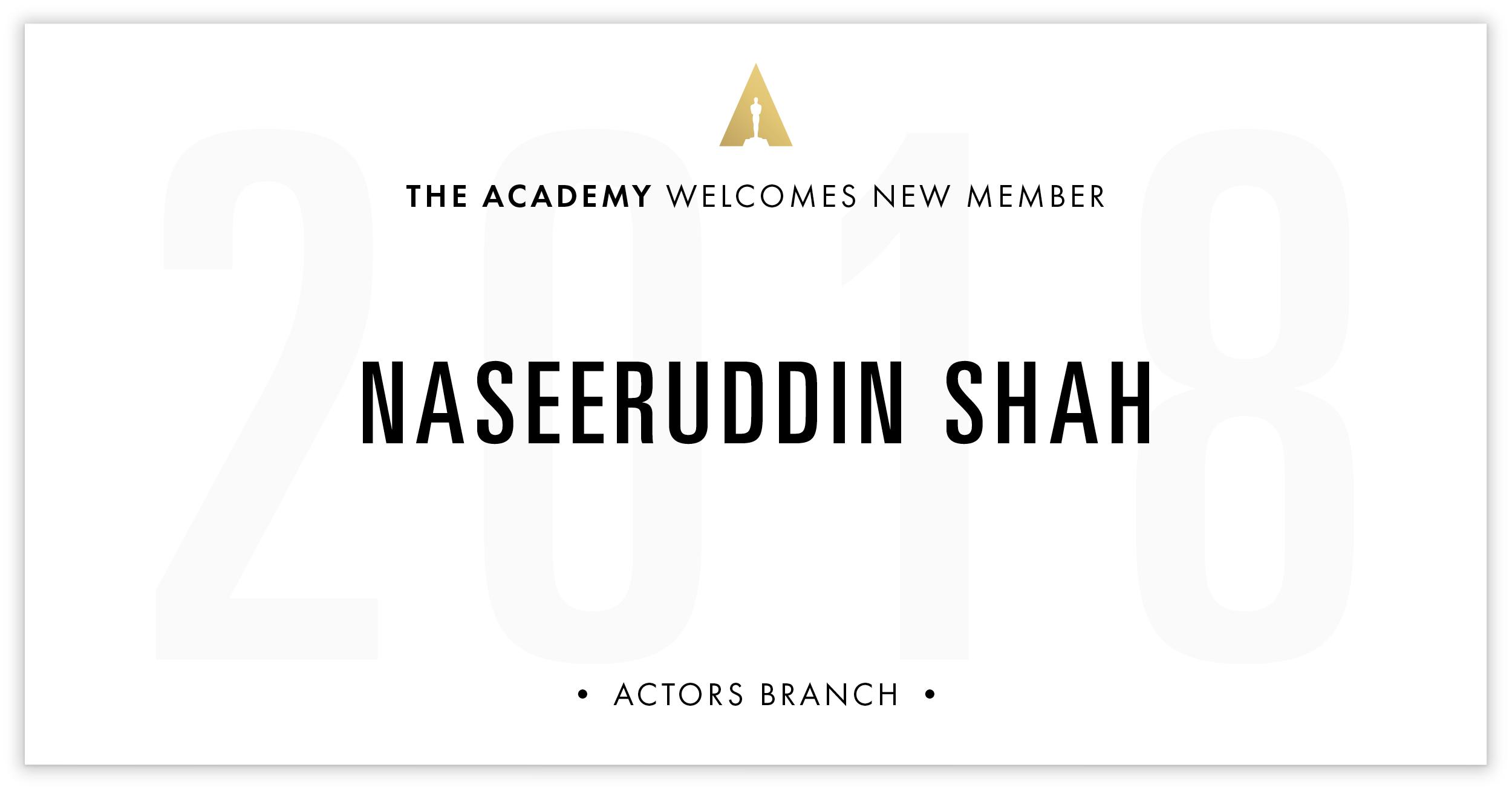 Naseeruddin Shah is invited!