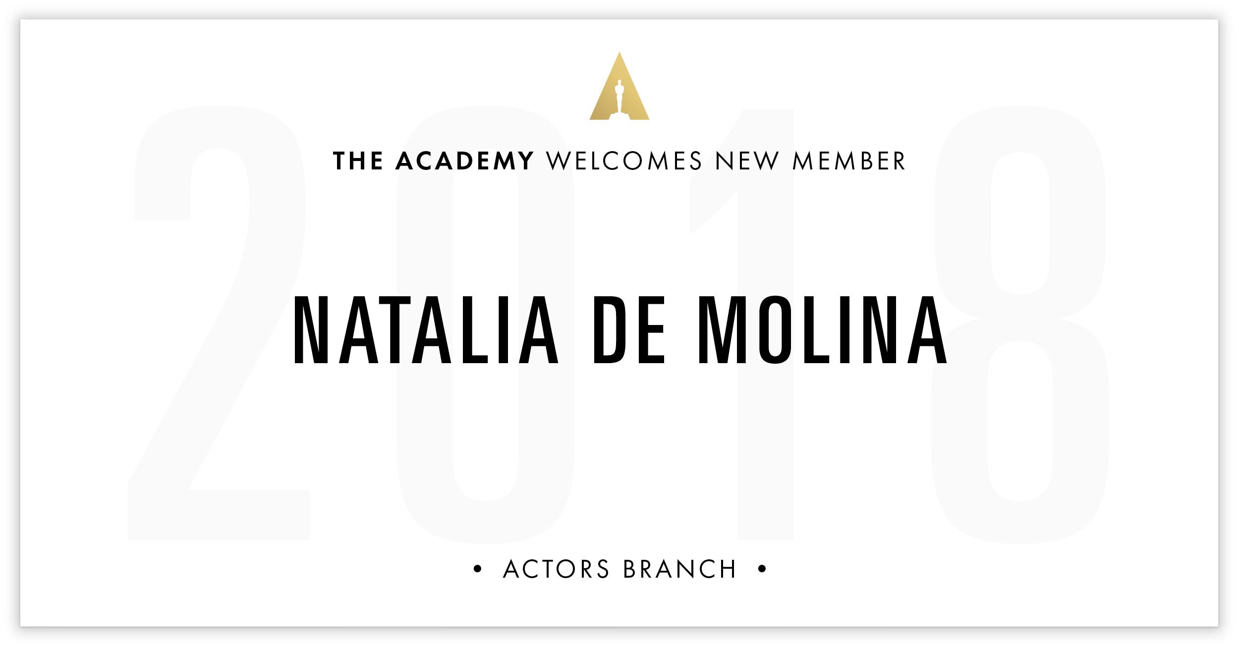 Natalia De Molina is invited!