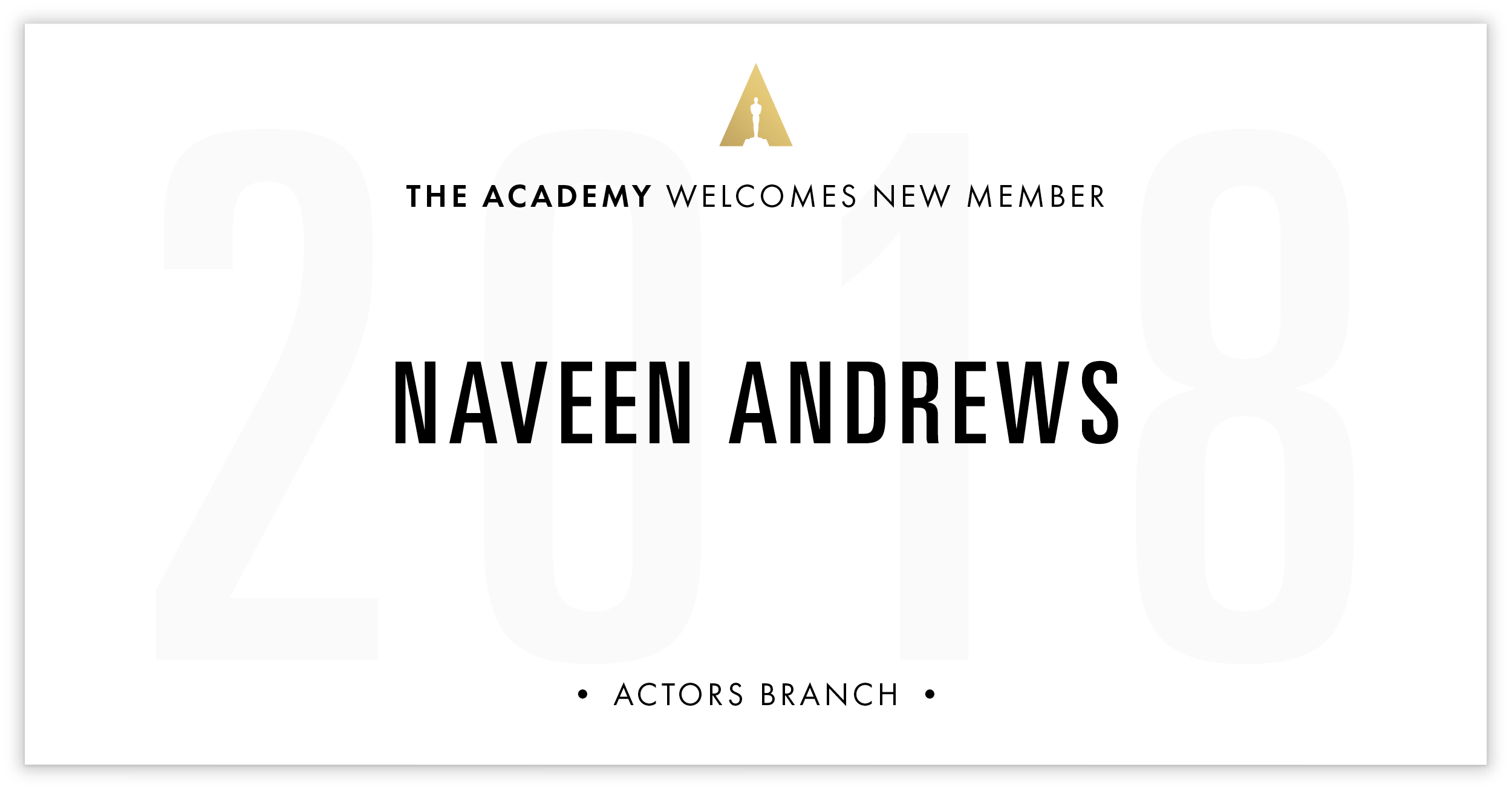 Naveen Andrews is invited!