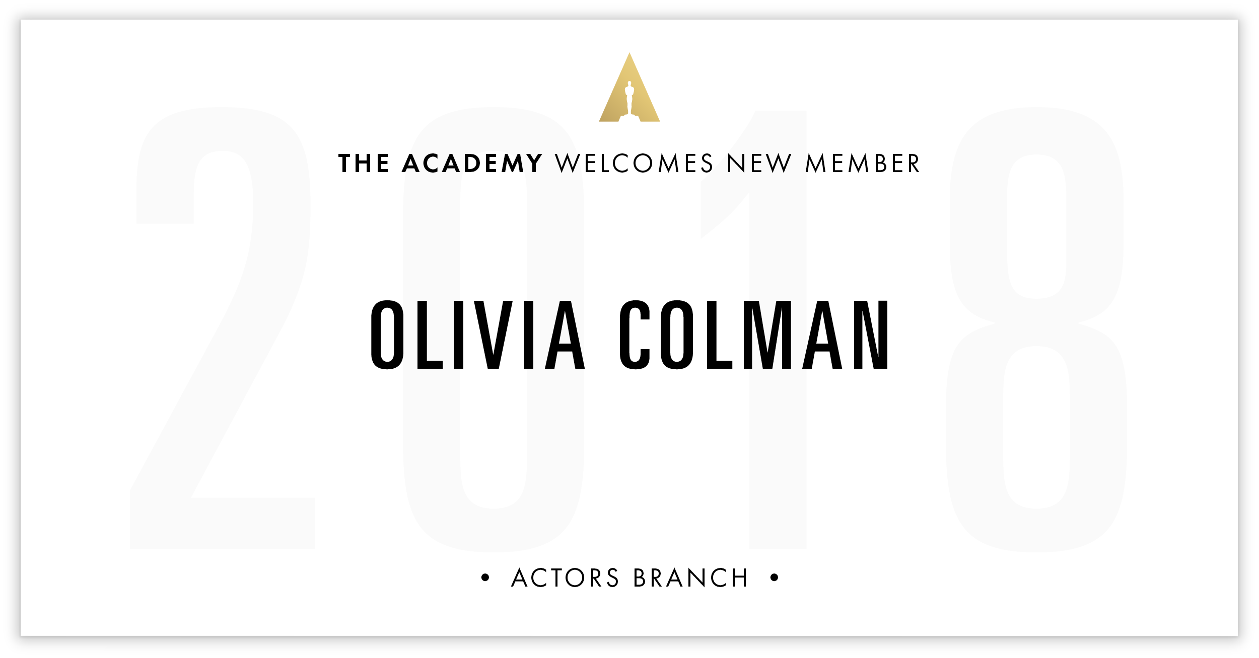 Olivia Colman is invited!