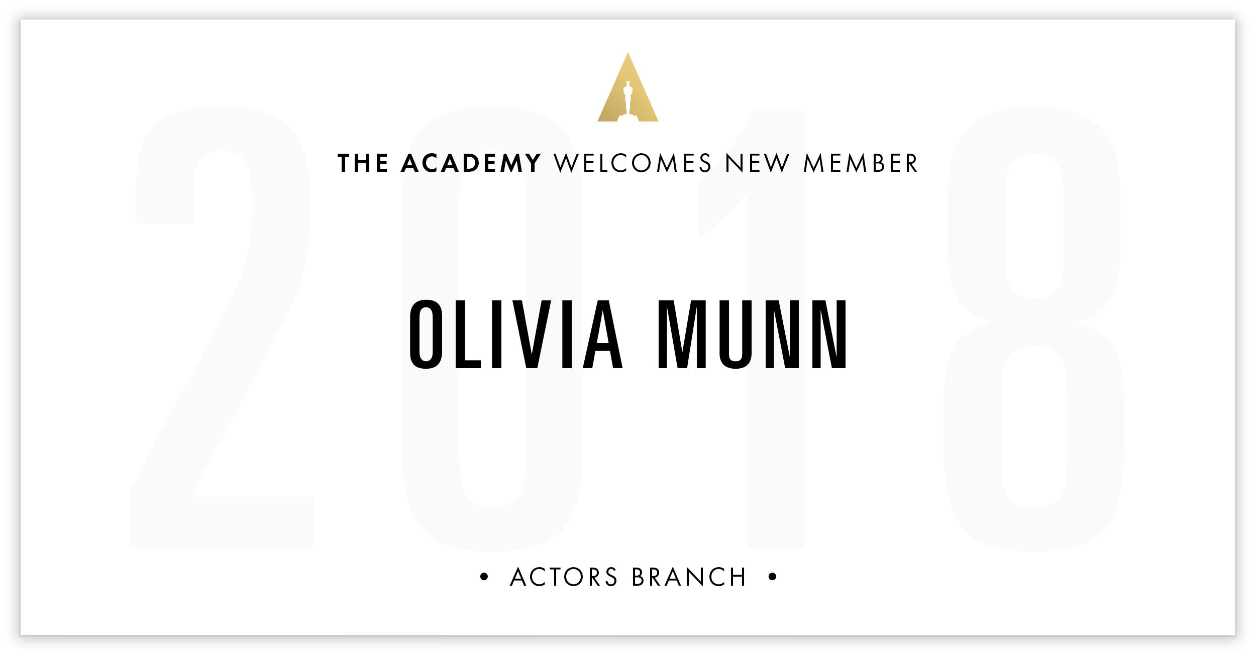 Olivia Munn is invited!