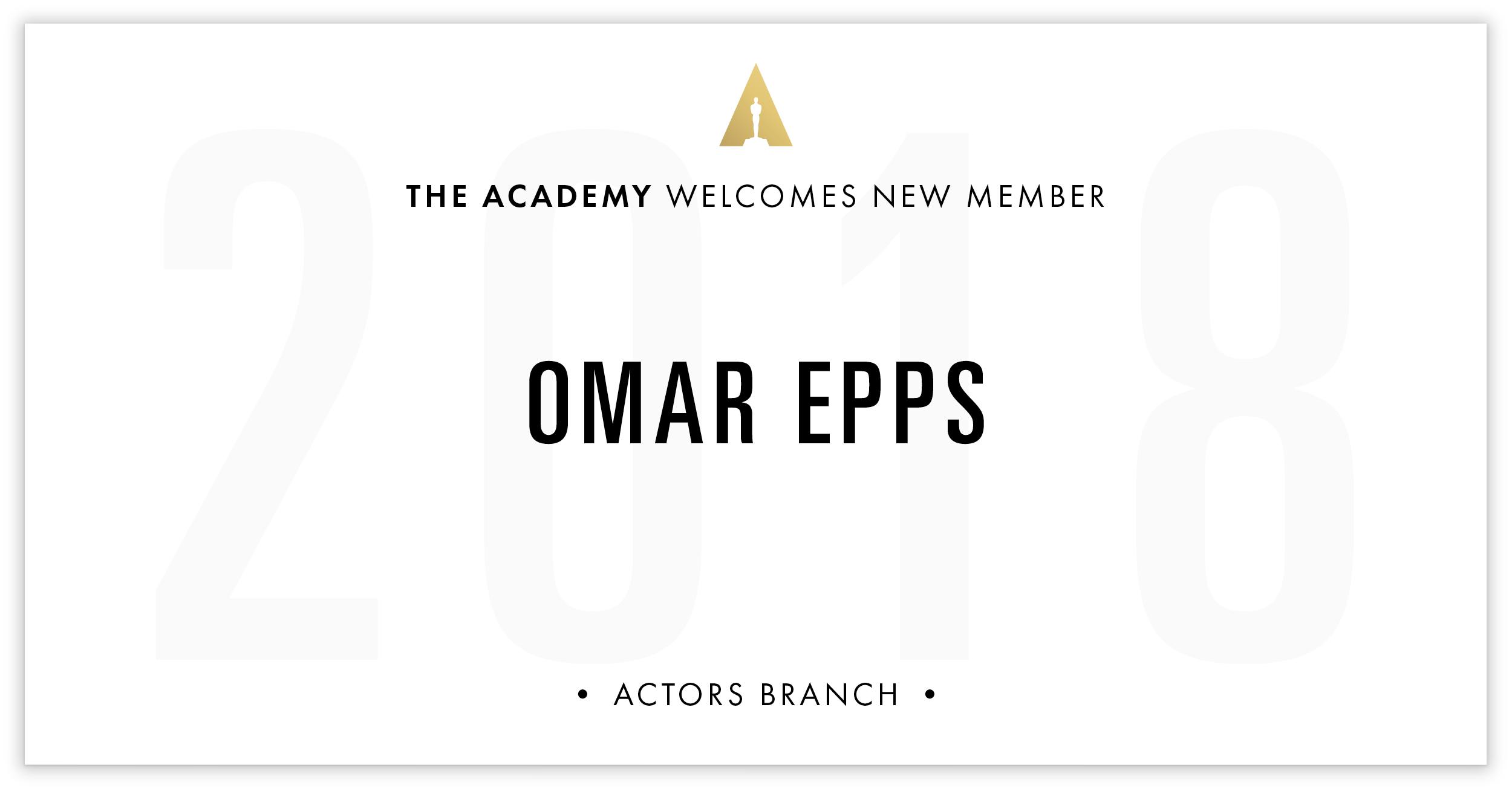 Omar Epps is invited!