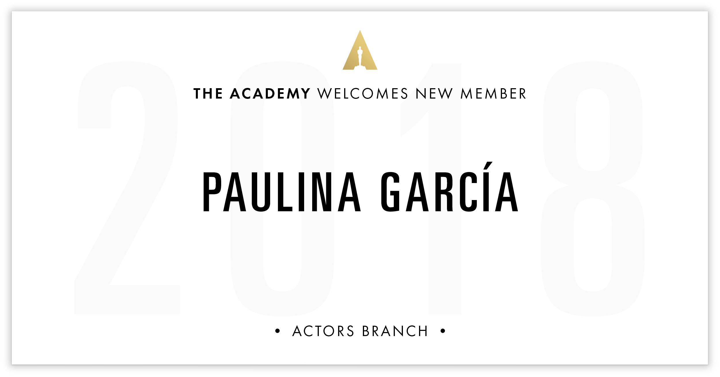 Paulina García is invited!