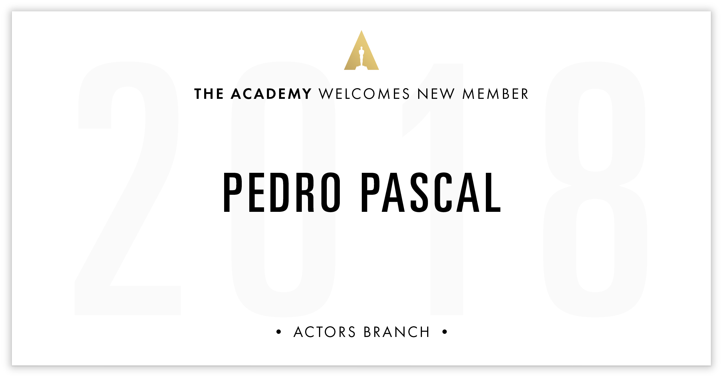 Pedro Pascal is invited!
