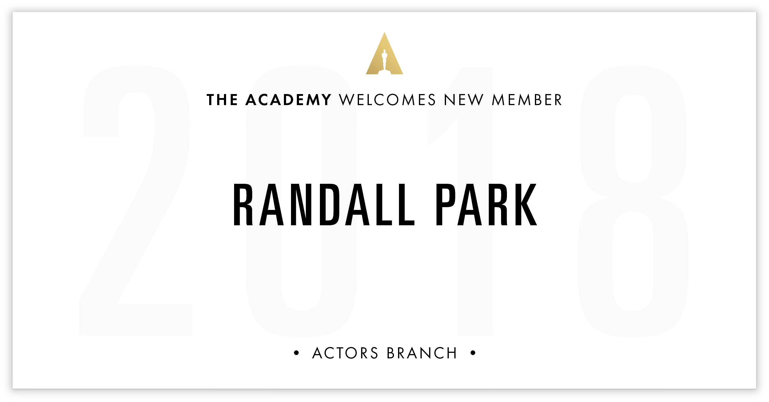 Randall Park is invited!