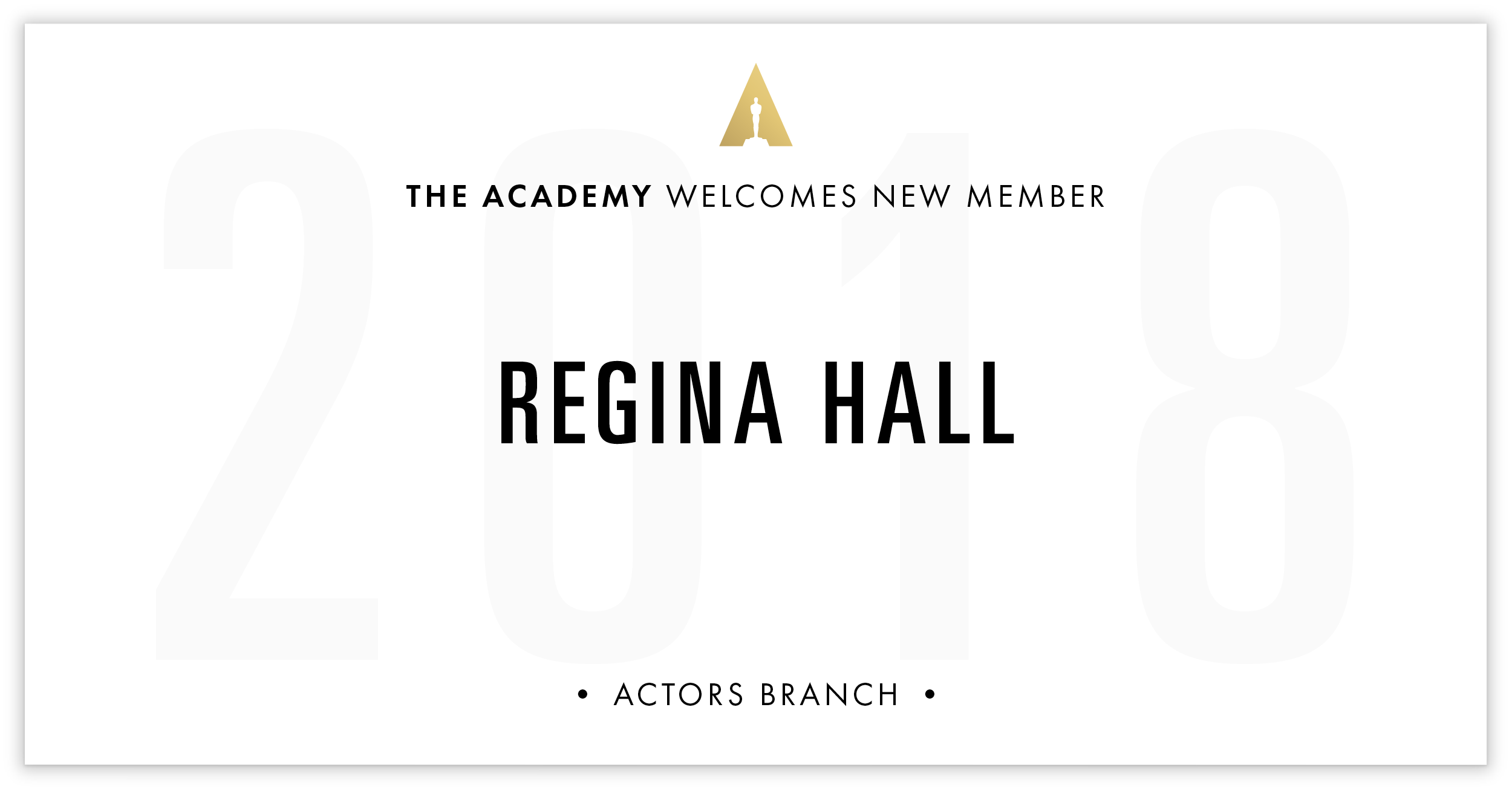 Regina Hall is invited!
