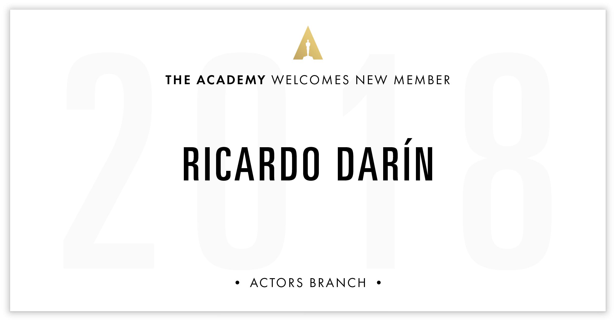 Ricardo Darín is invited!