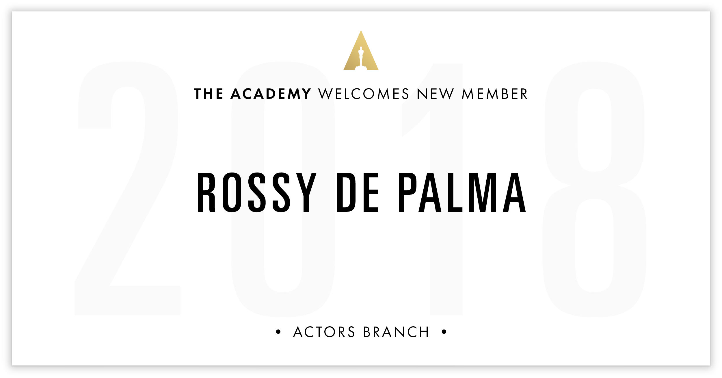 Rossy De Palma is invited!