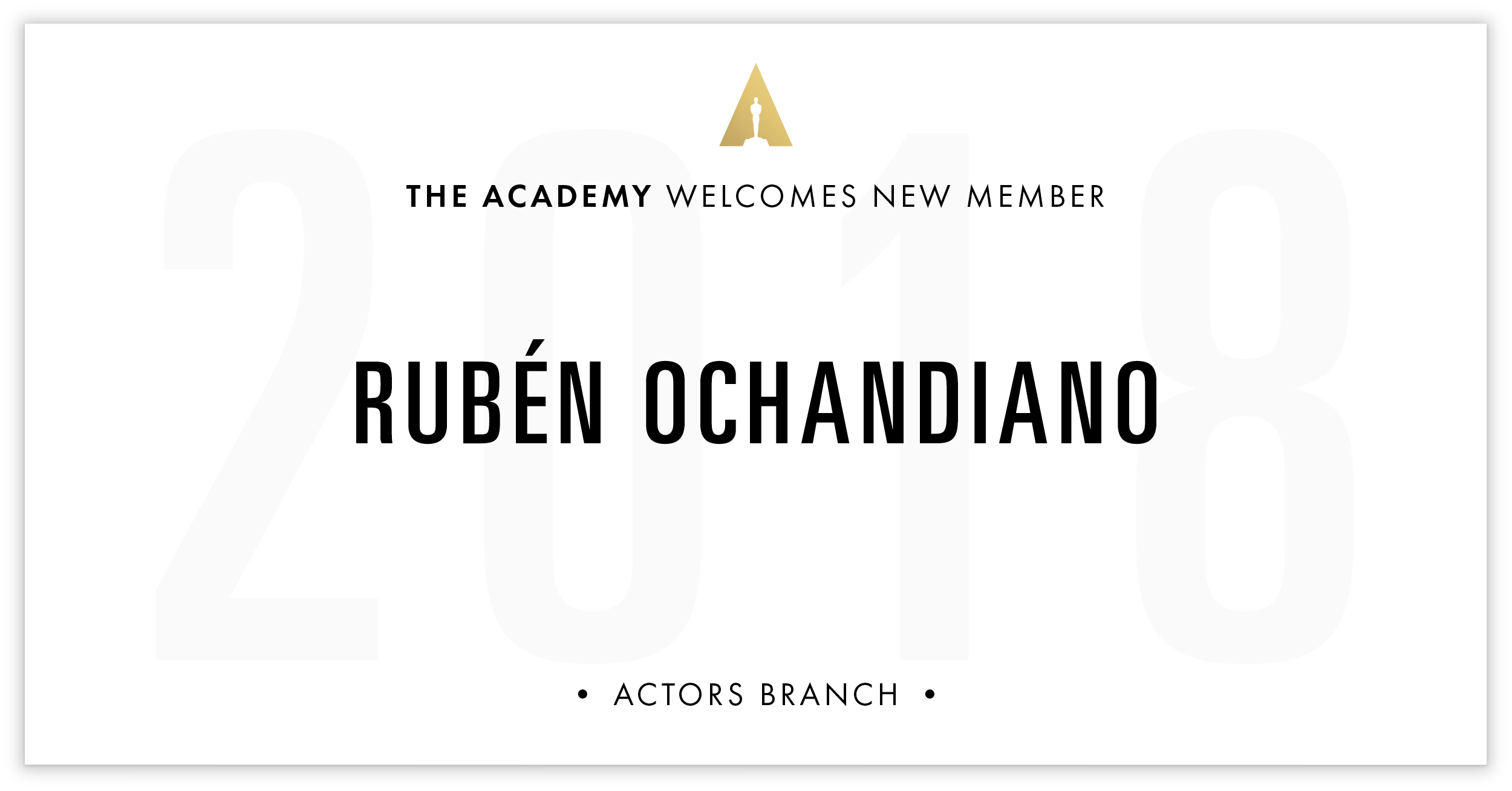 Rubén Ochandiano is invited!