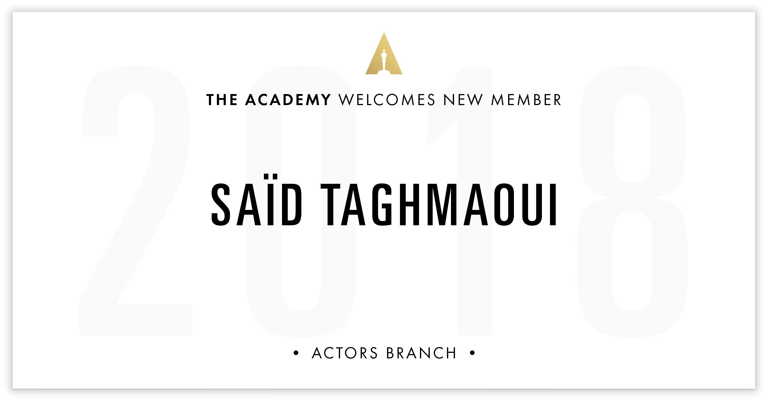 Saïd Taghmaoui is invited!