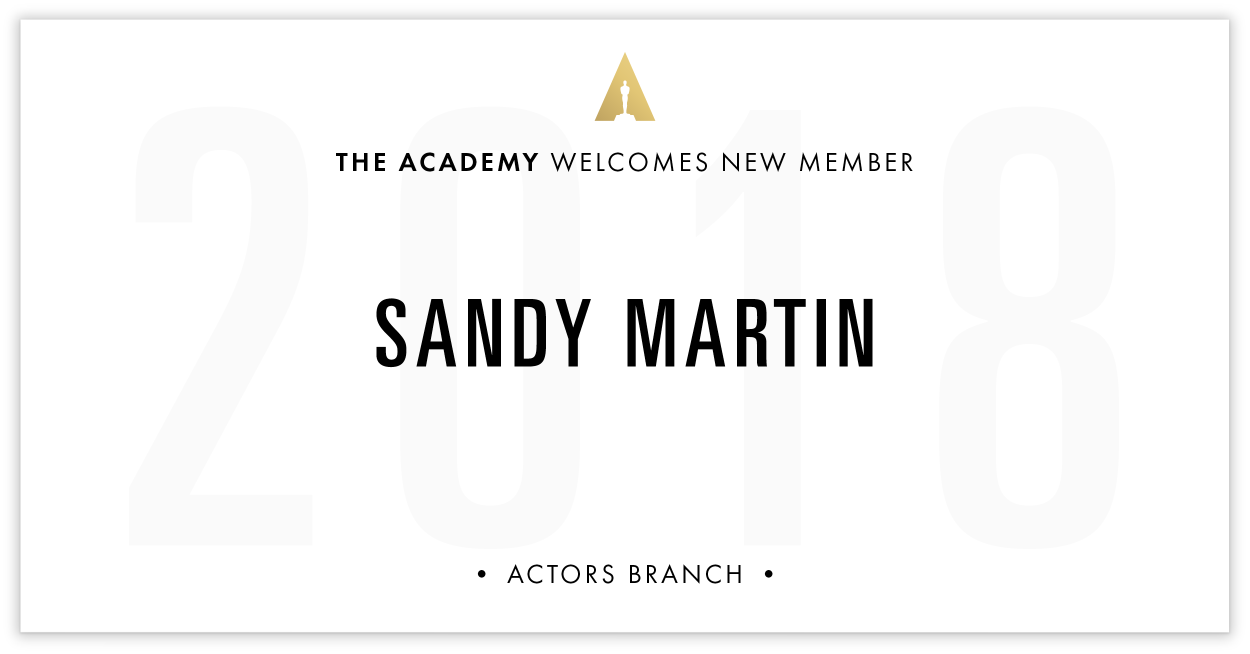 Sandy Martin is invited!