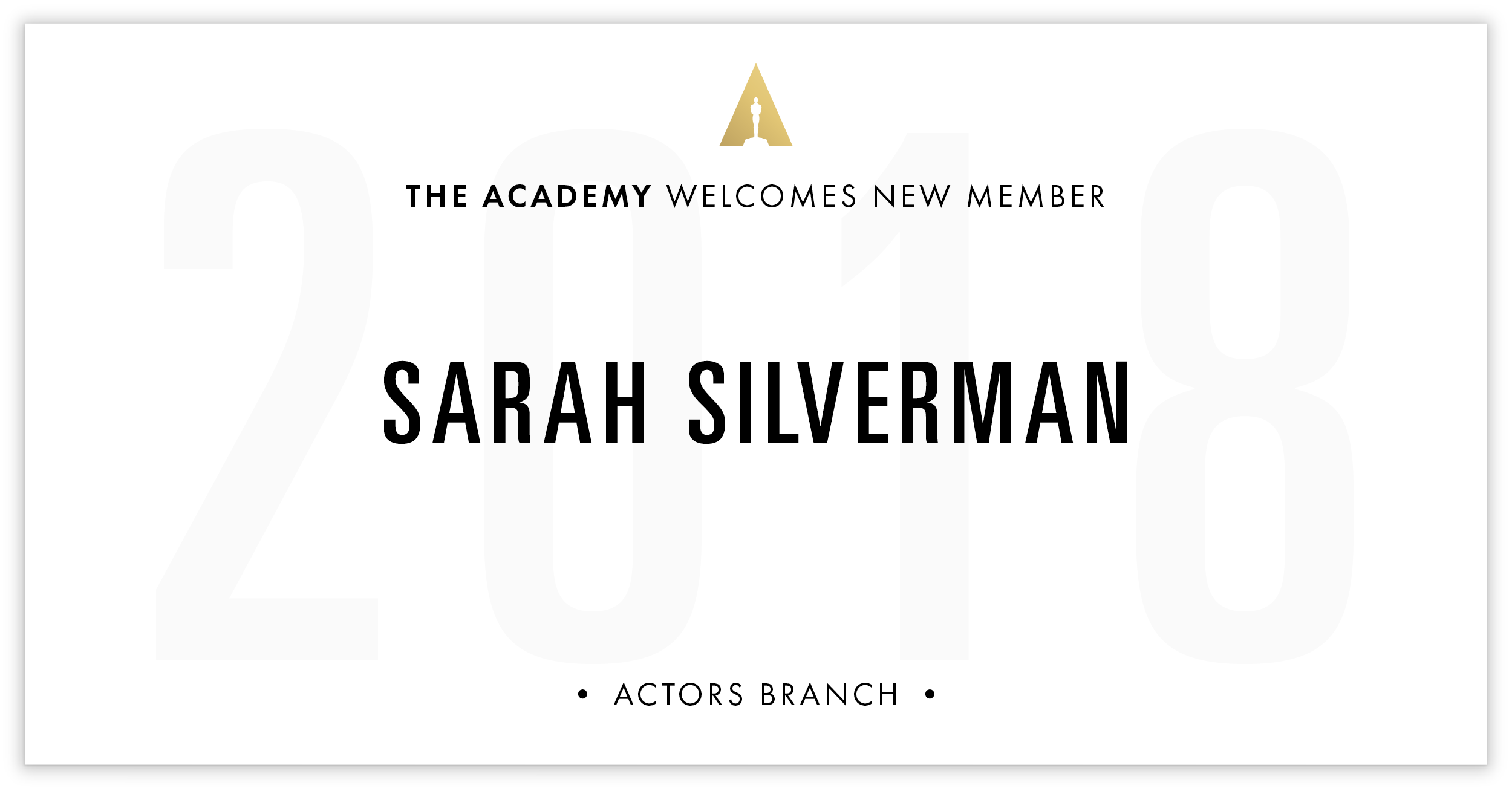 Sarah Silverman is invited!