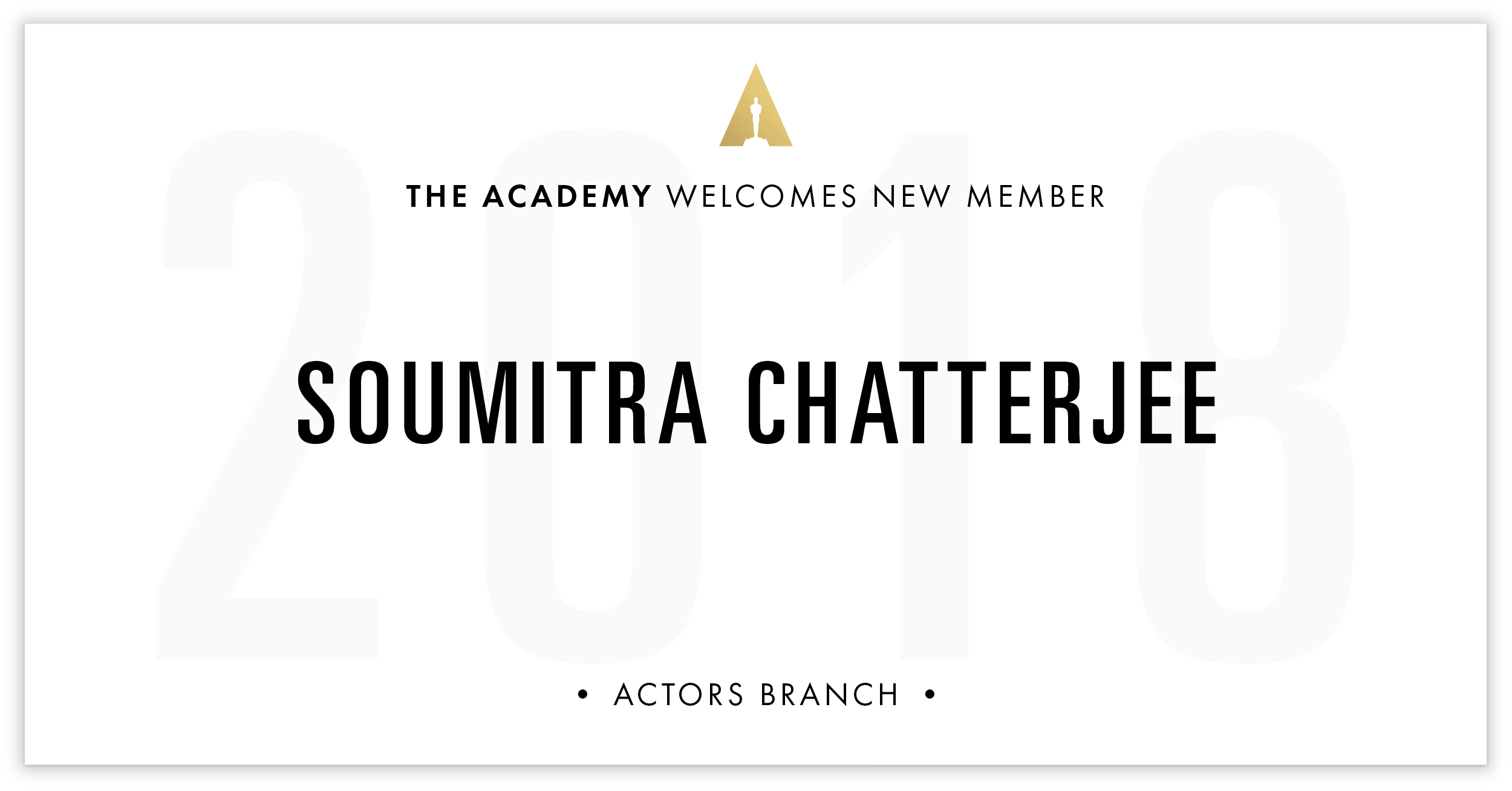 Soumitra Chatterjee is invited!