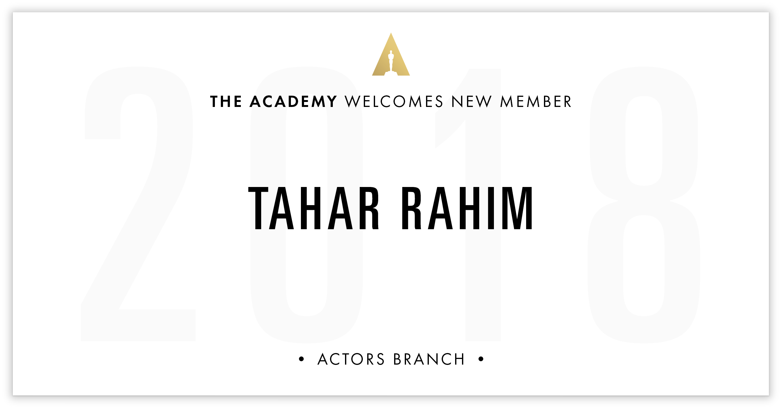 Tahar Rahim is invited!