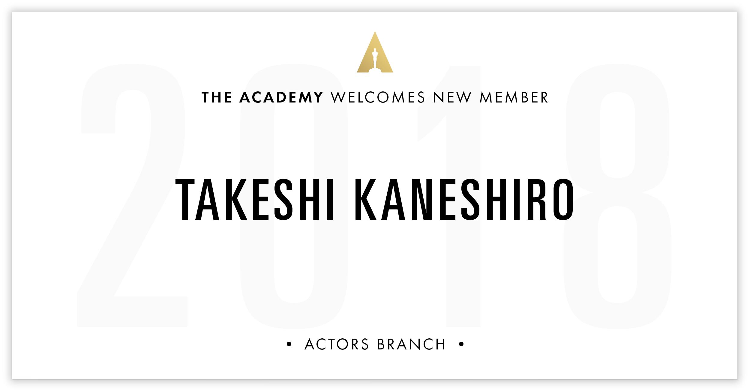 Takeshi Kaneshiro is invited!