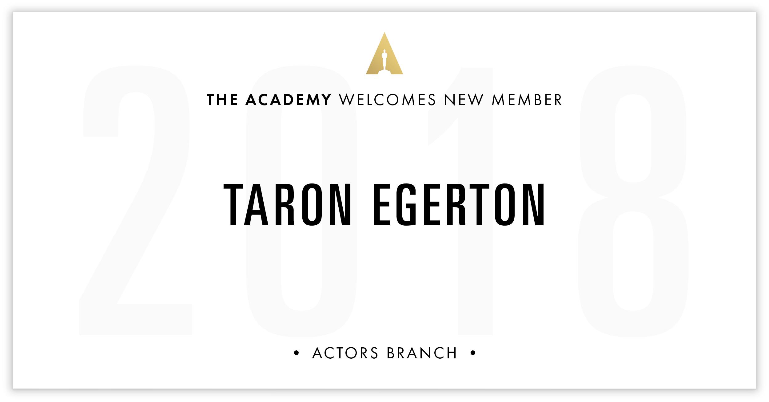 Taron Egerton is invited!