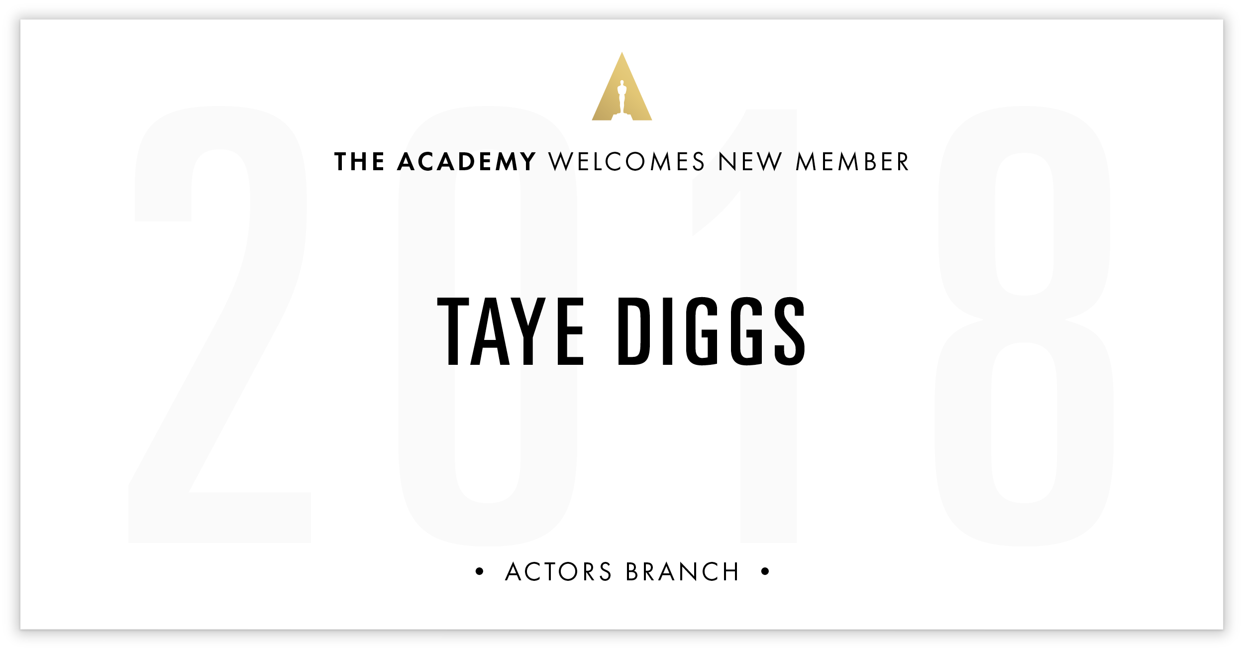 Taye Diggs is invited!