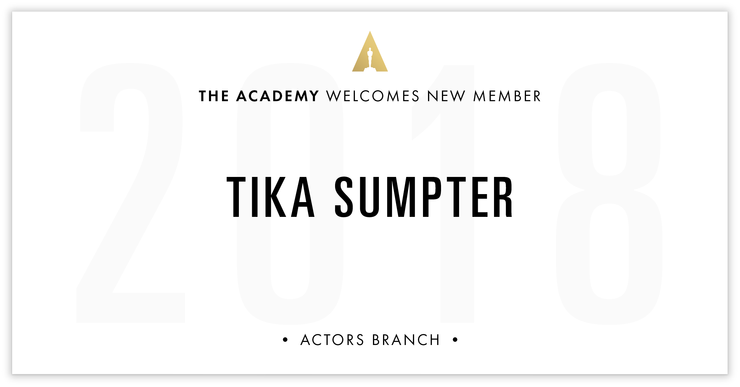 Tika Sumpter is invited!