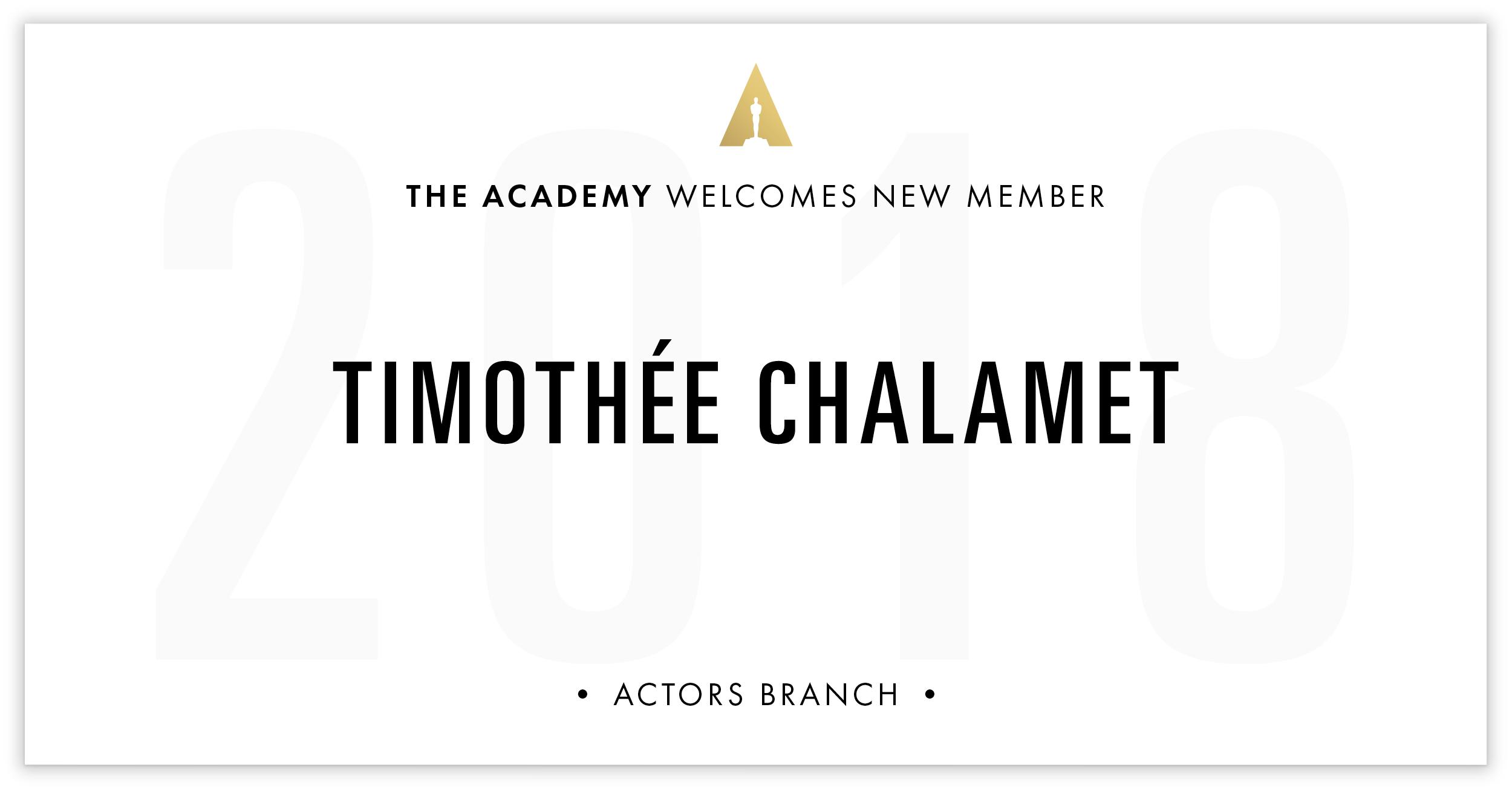 Timothée Chalamet is invited!
