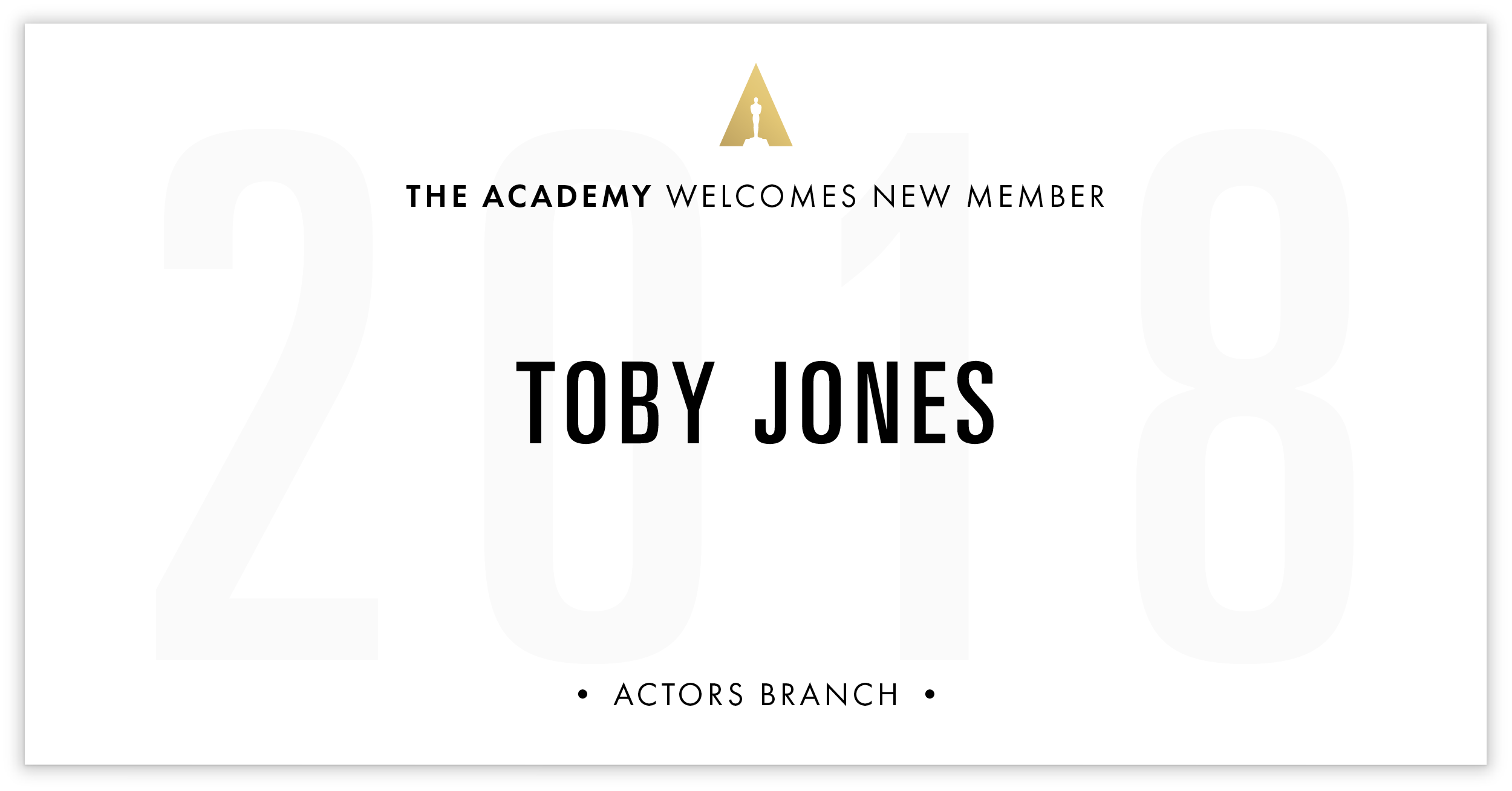 Toby Jones is invited!
