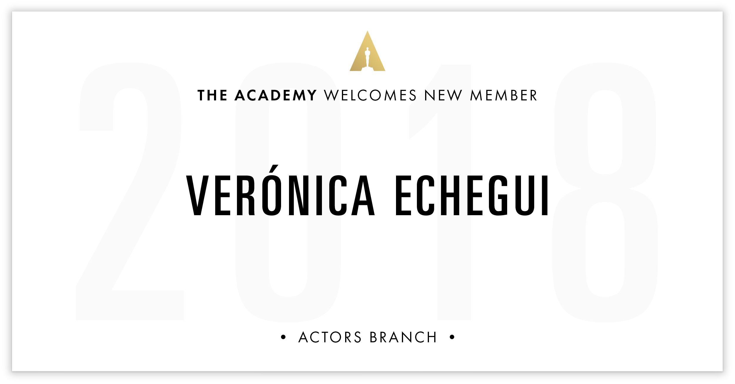 Verónica Echegui is invited!