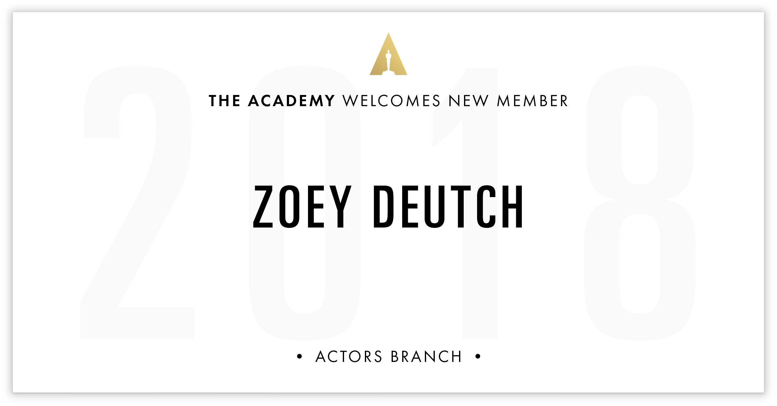 Zoey Deutch is invited!