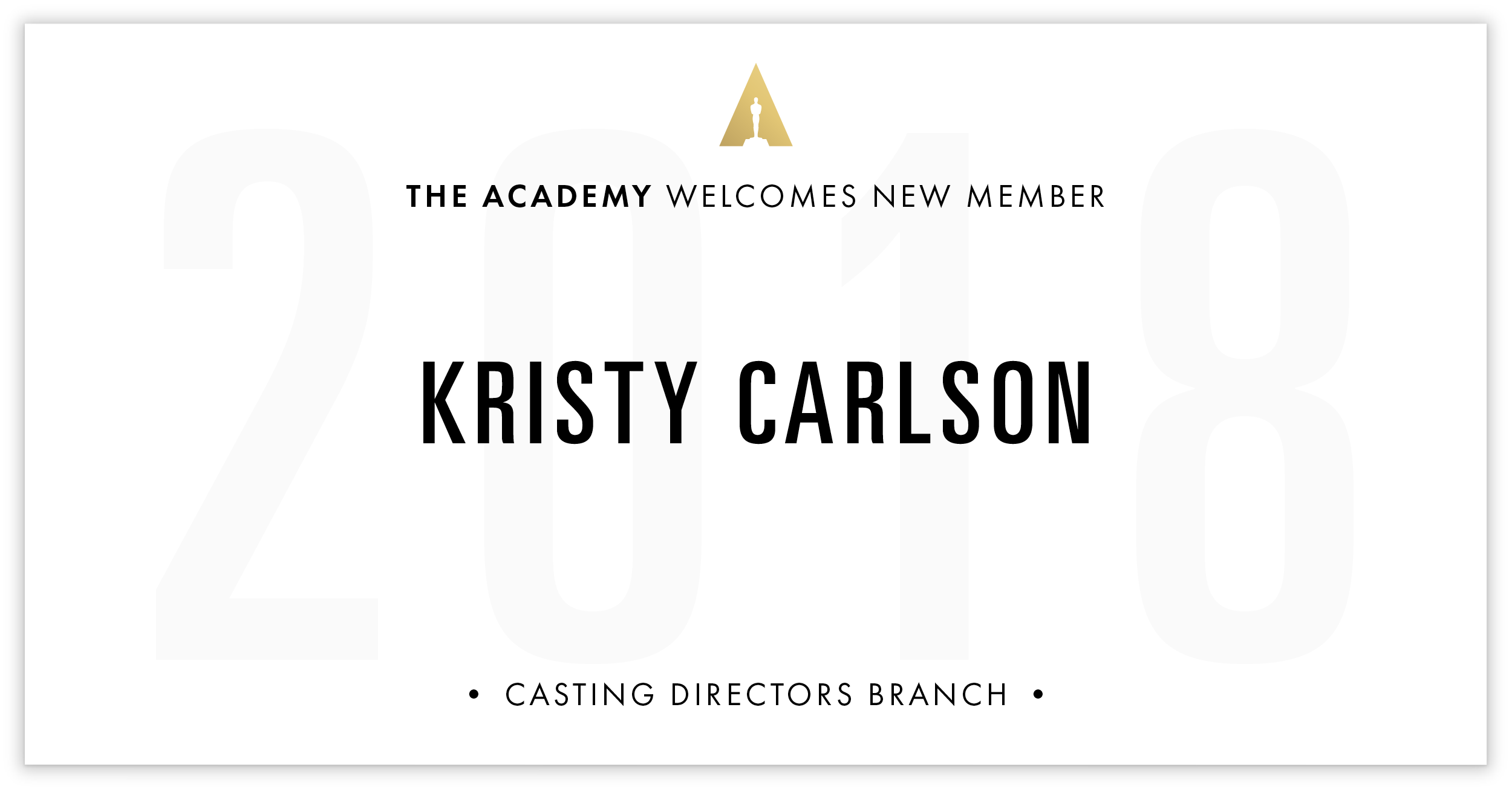 Kristy Carlson is invited!