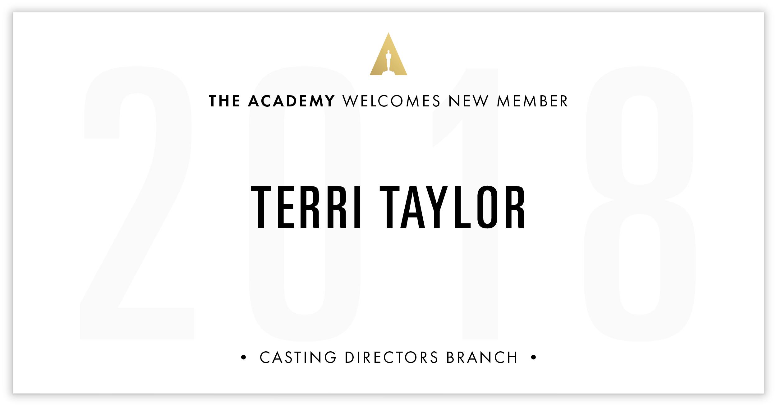 Terri Taylor is invited!