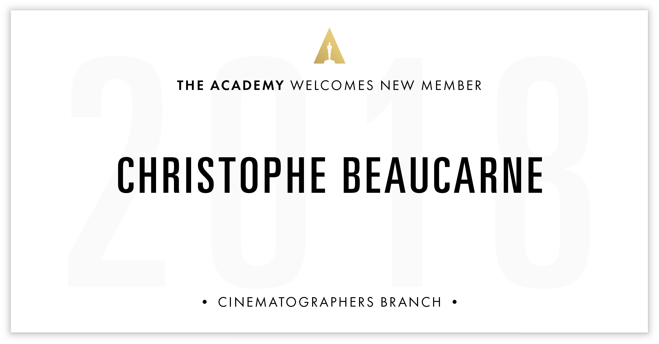 Christophe Beaucarne is invited!