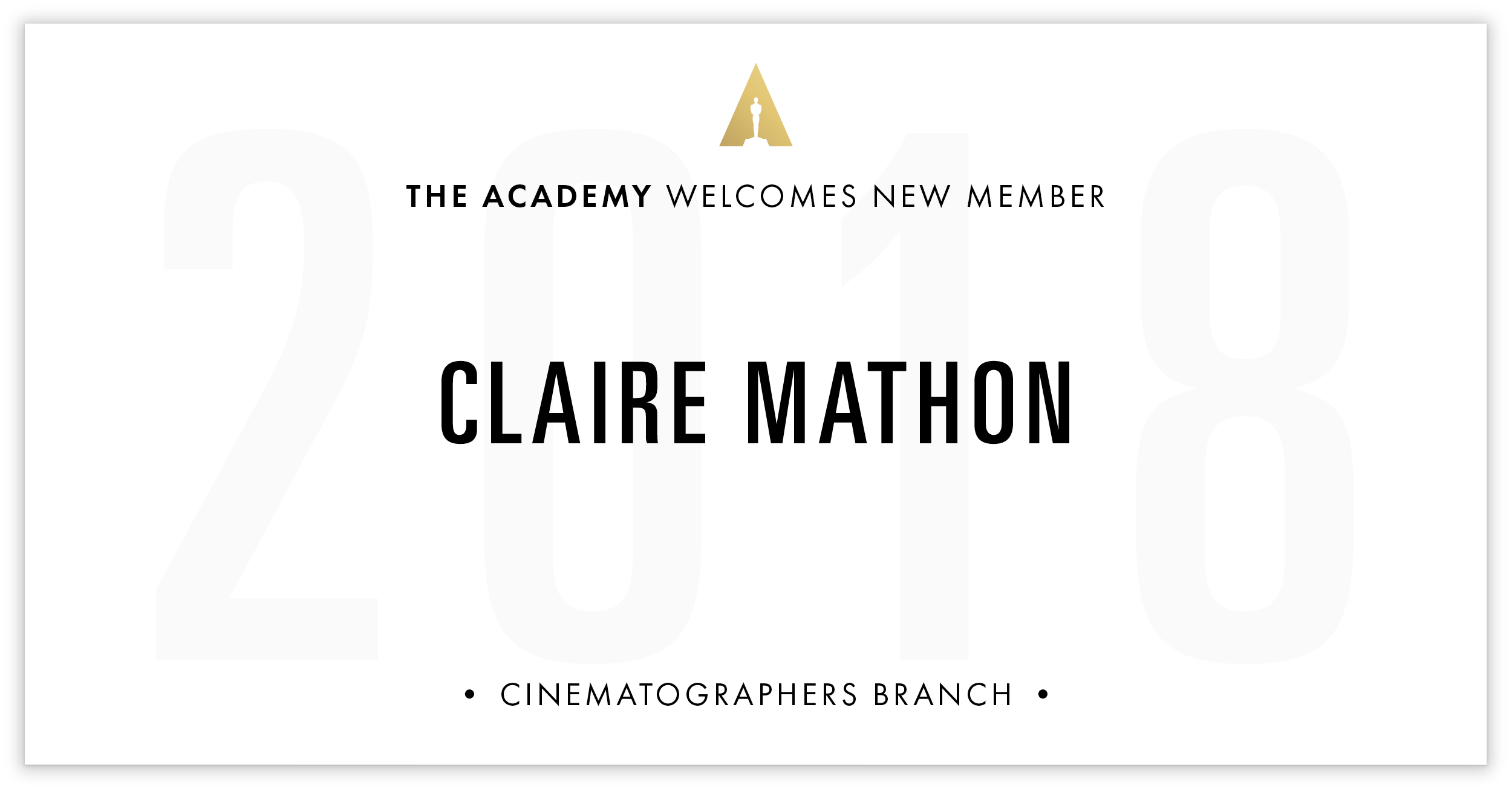 Claire Mathon is invited!