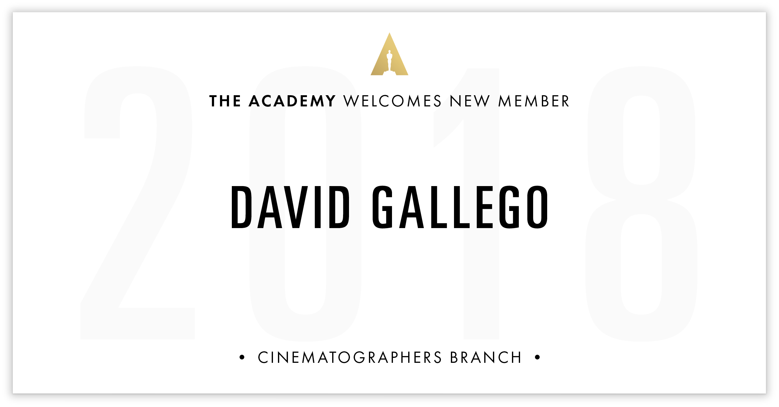 David Gallego is invited!