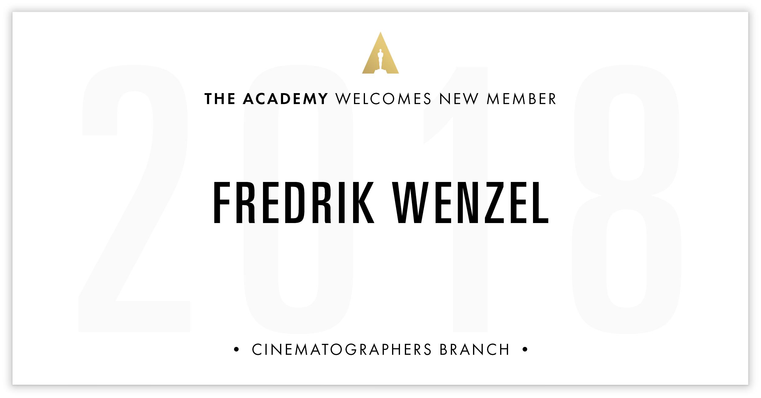 Fredrik Wenzel is invited!