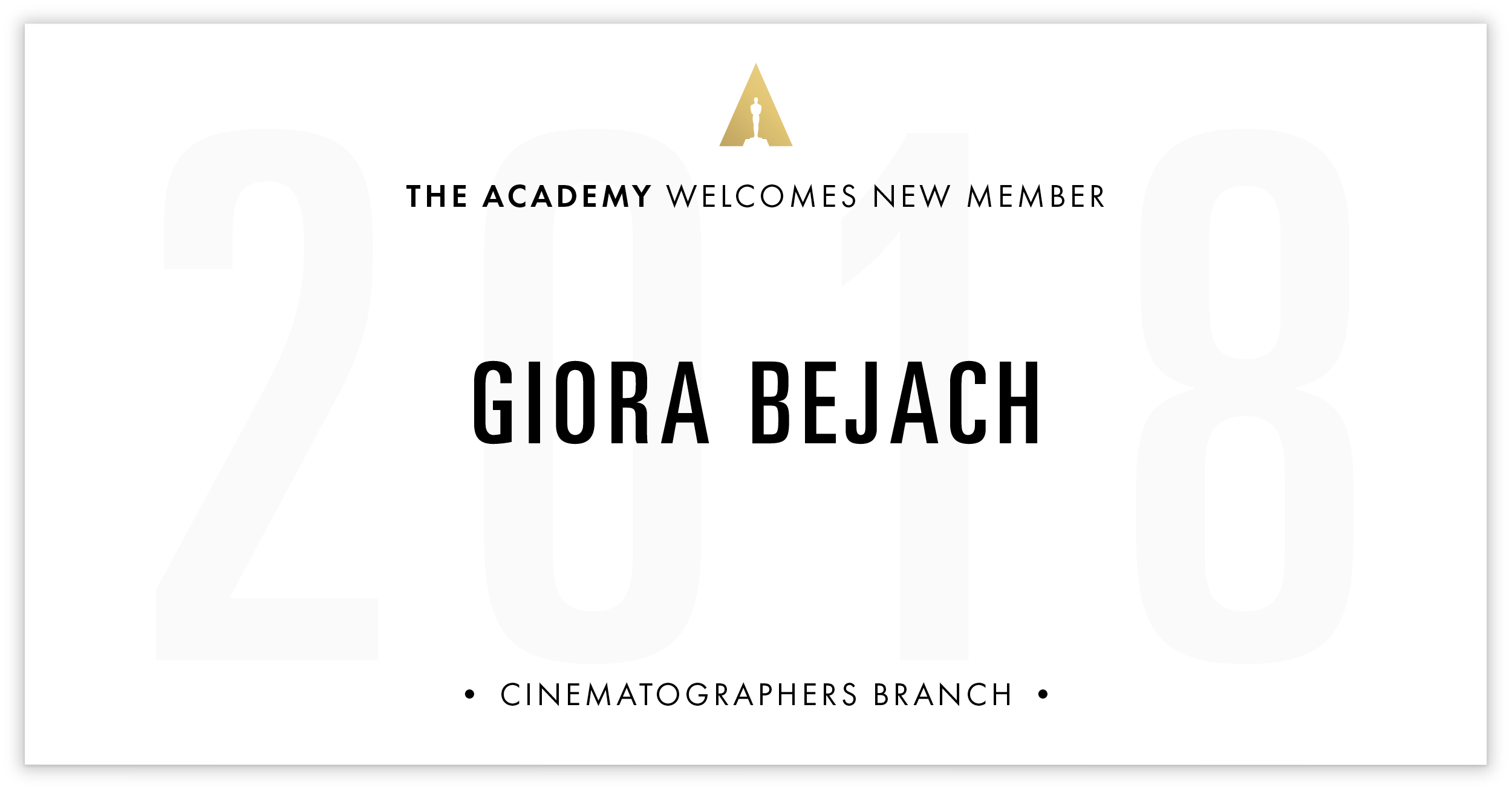 Giora Bejach is invited!