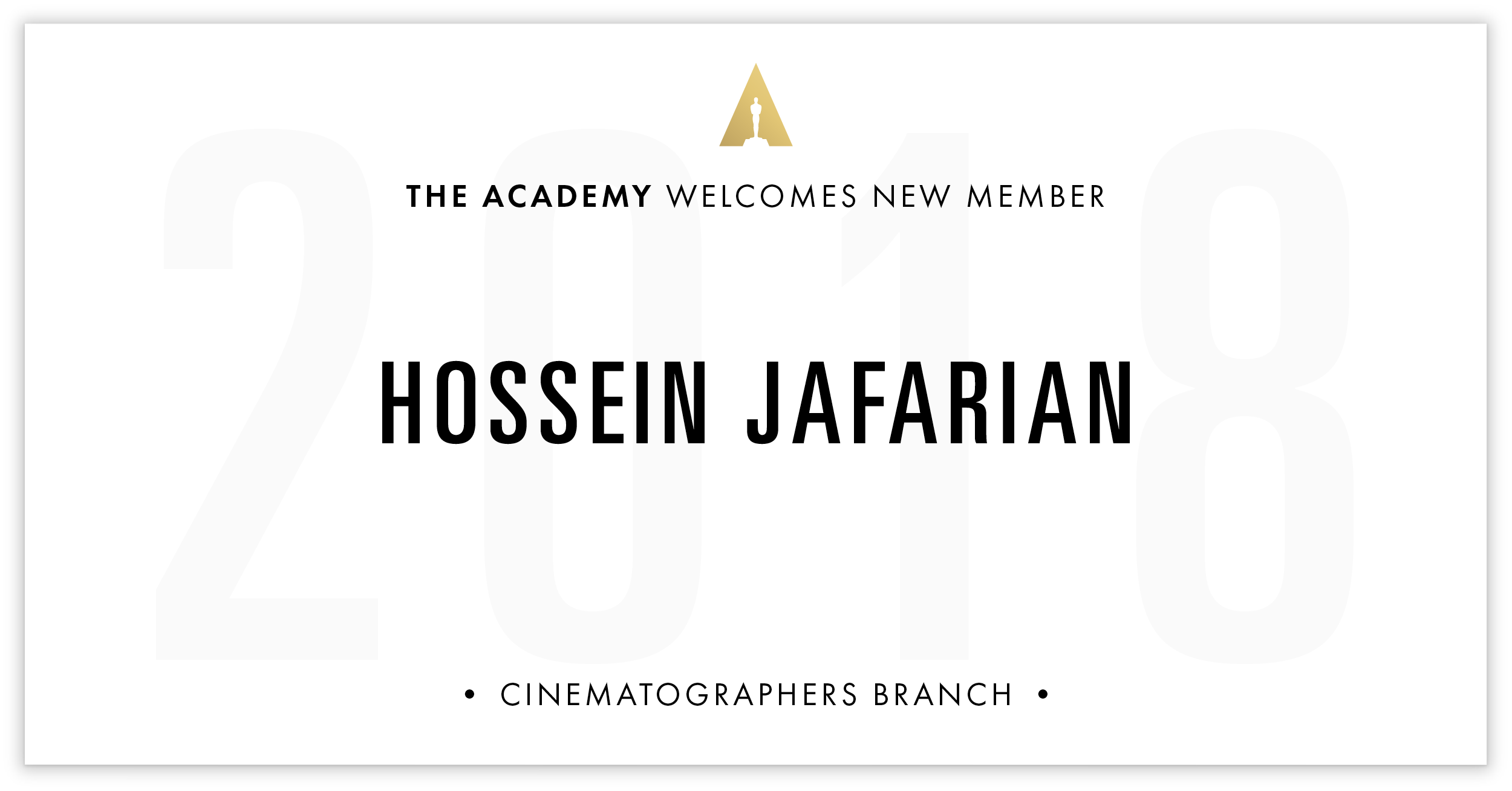 Hossein Jafarian is invited!