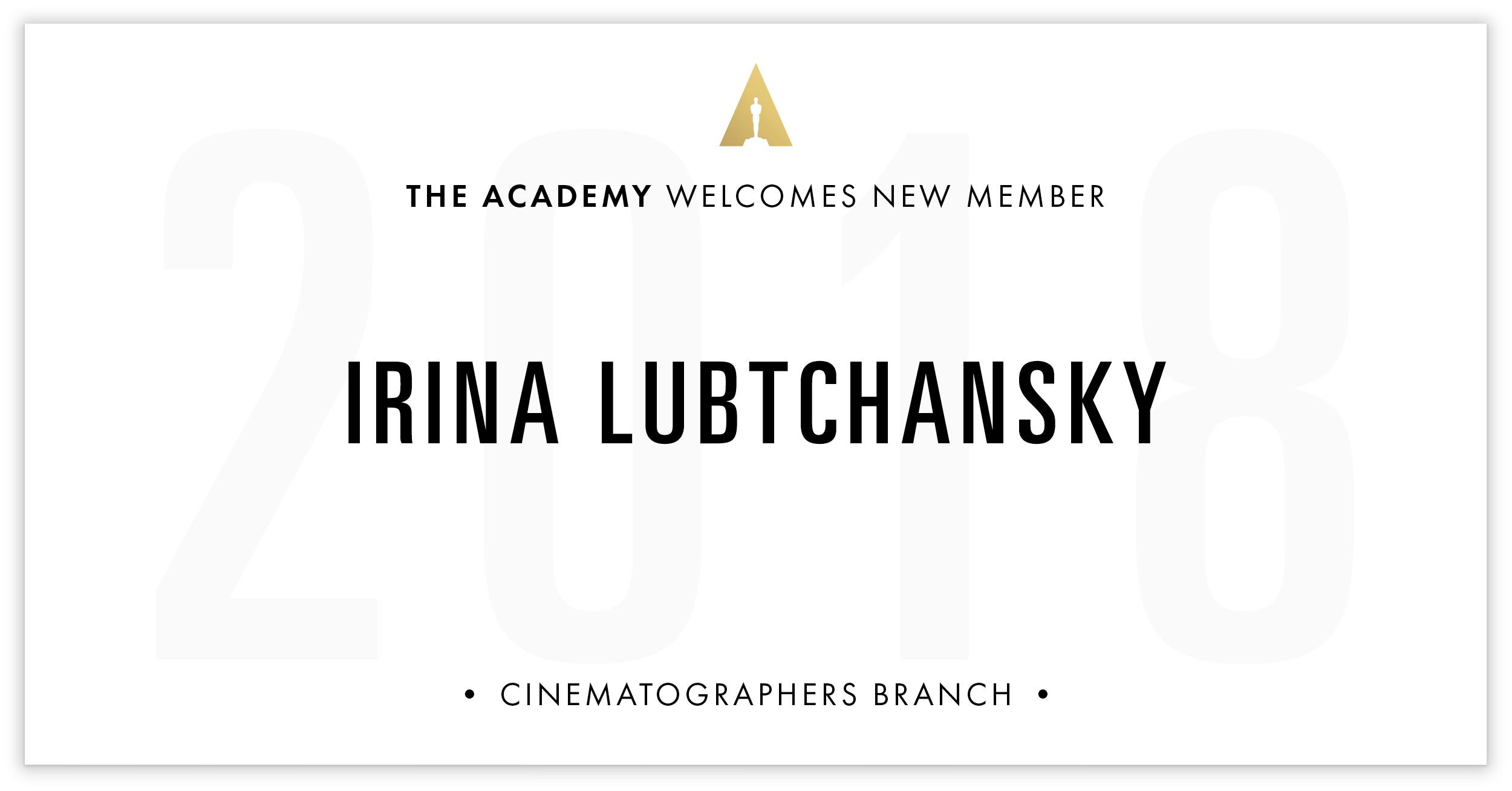 Irina Lubtchansky is invited!