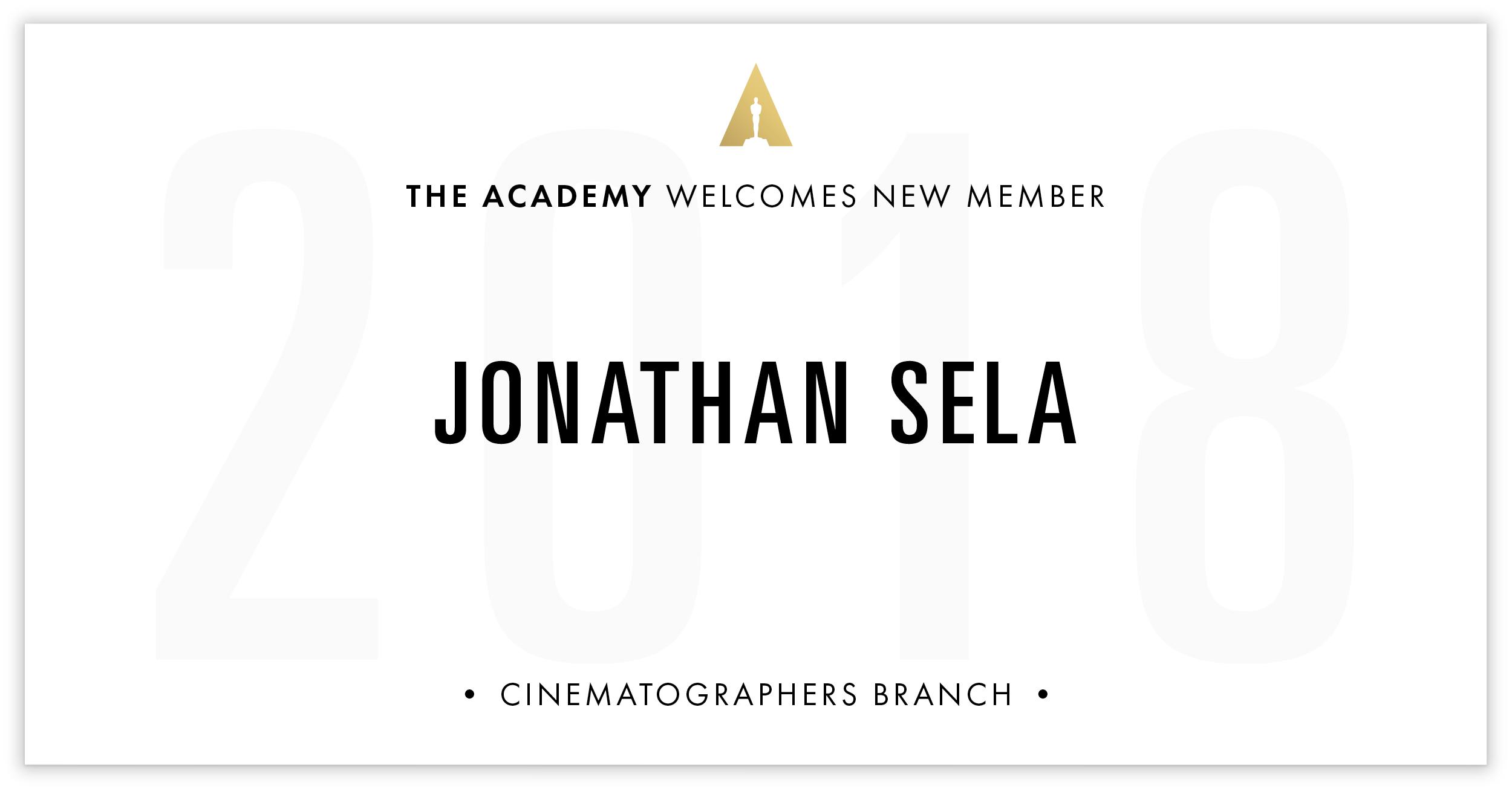 Jonathan Sela is invited!