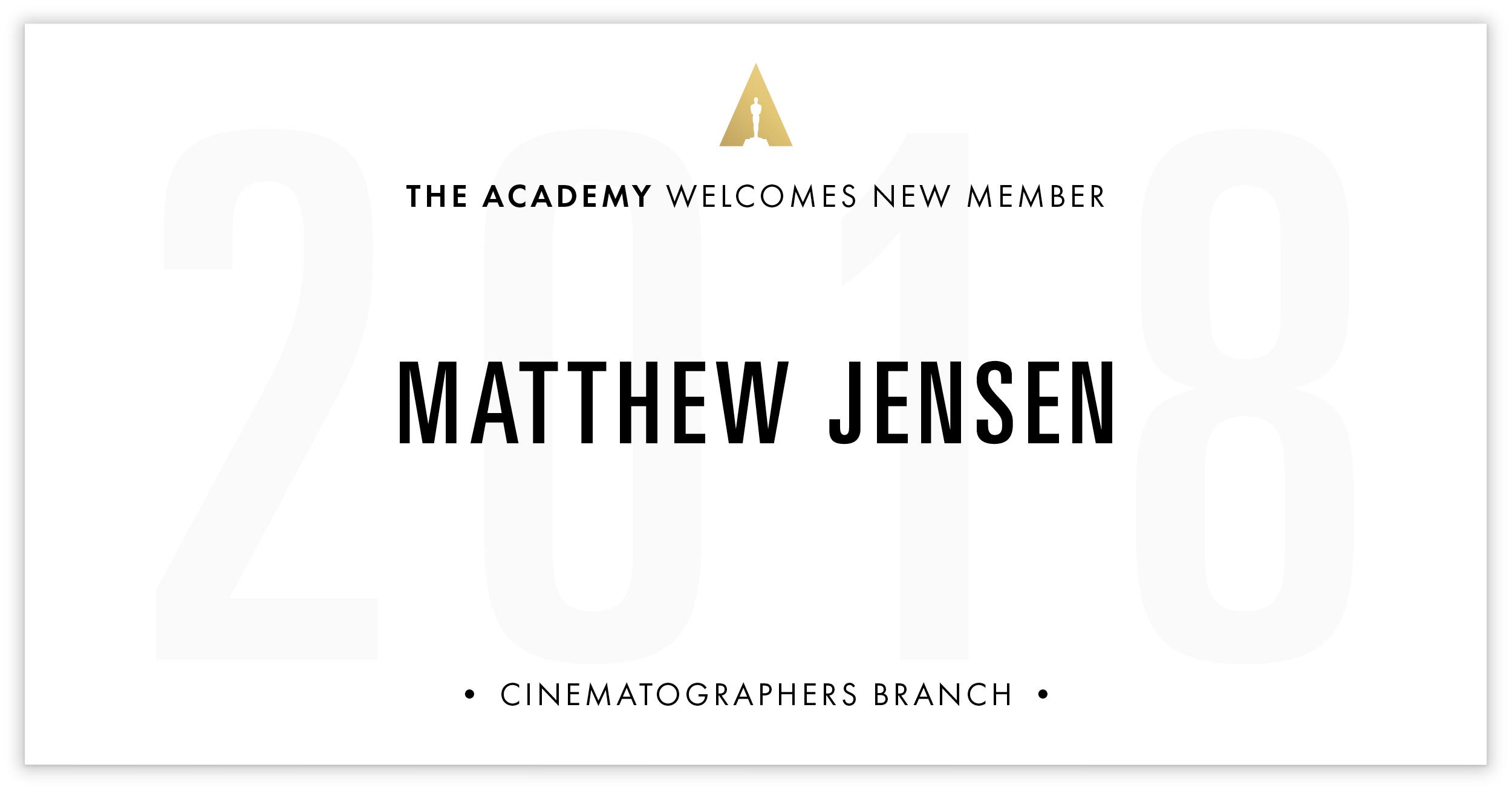 Matthew Jensen is invited!
