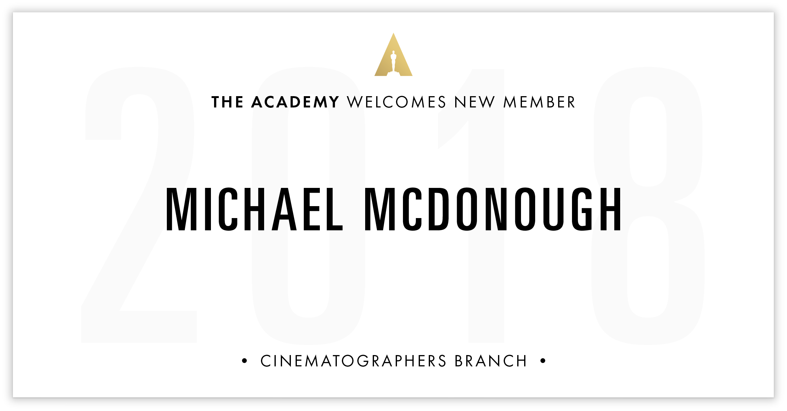Michael McDonough is invited!