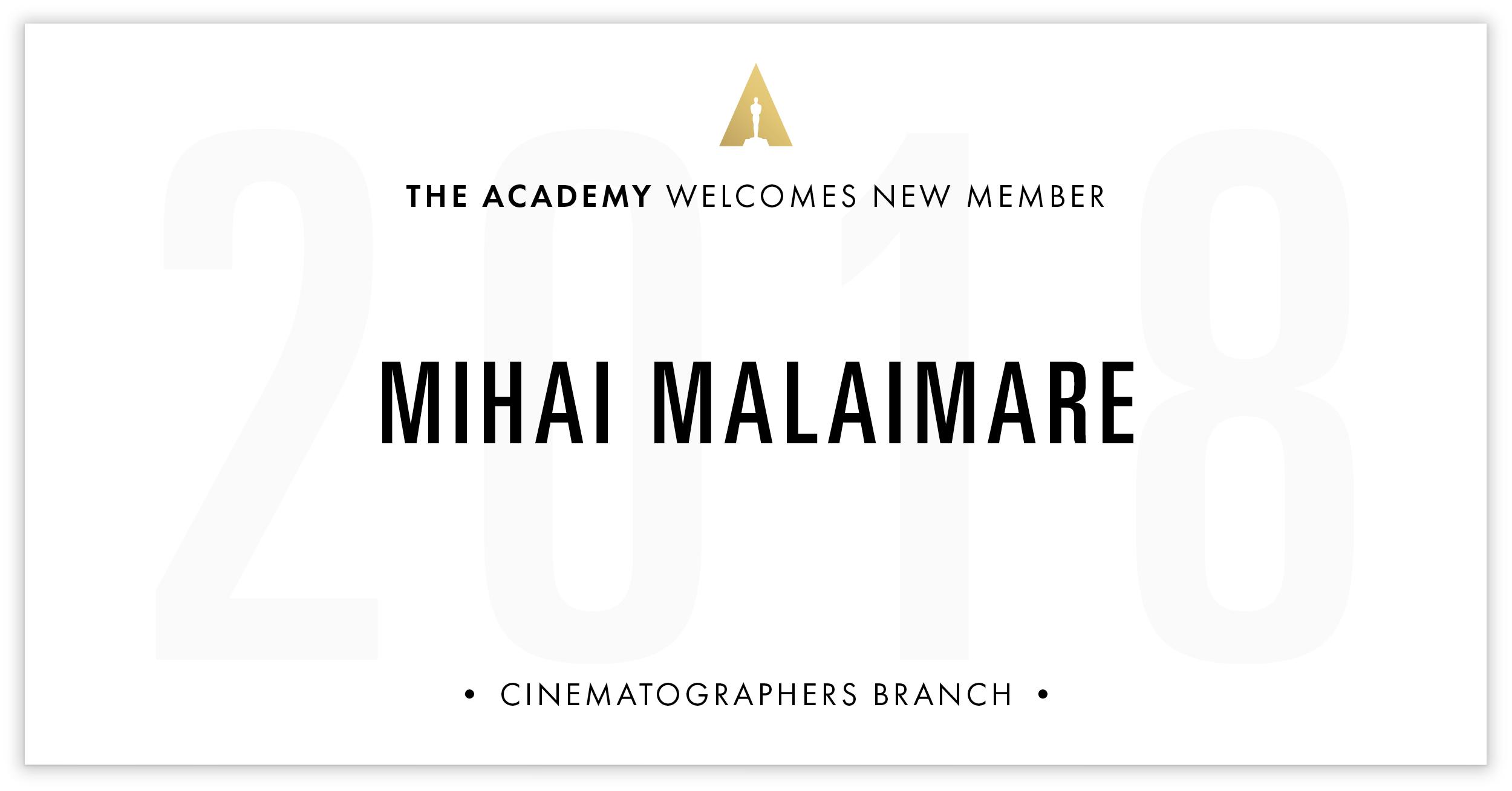 Mihai Malaimare is invited!