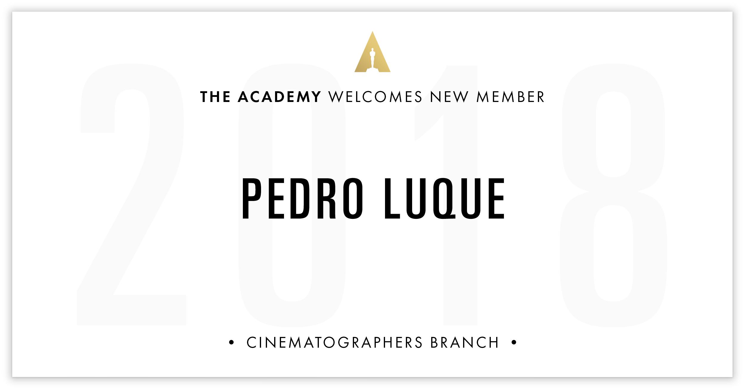 Pedro Luque is invited!