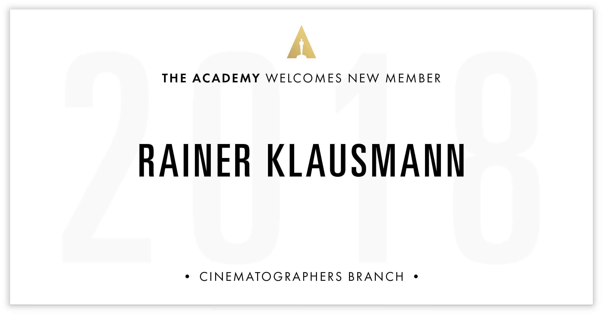 Rainer Klausmann is invited!