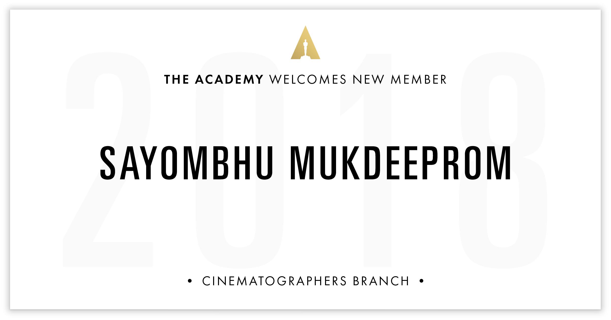 Sayombhu Mukdeeprom is invited!