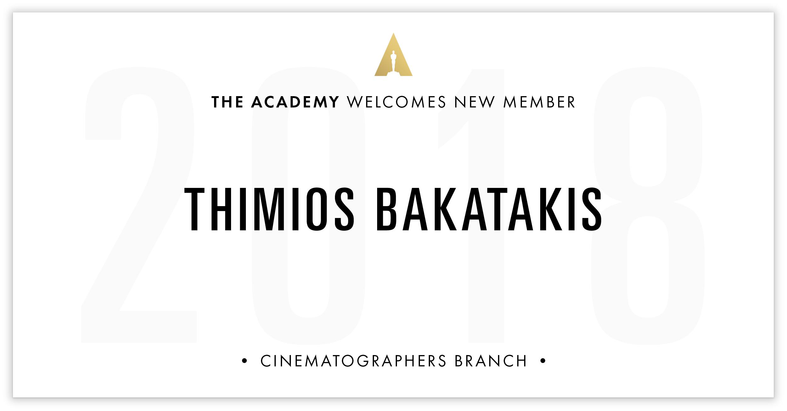 Thimios Bakatakis is invited!