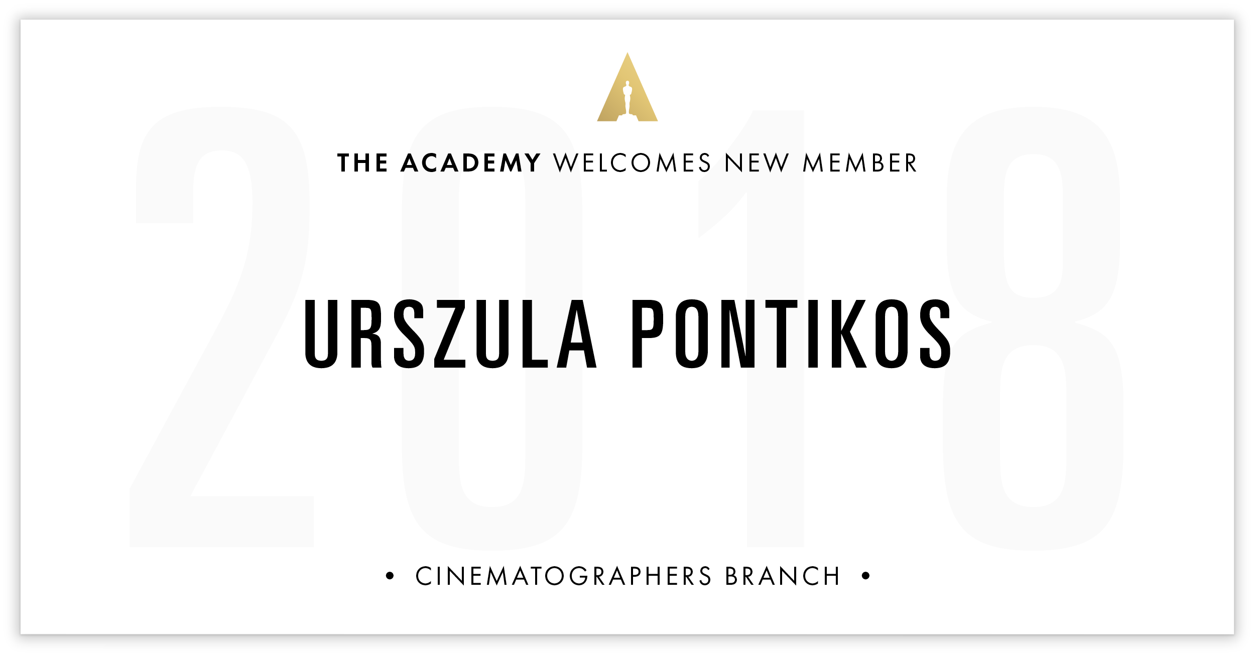 Urszula Pontikos is invited!