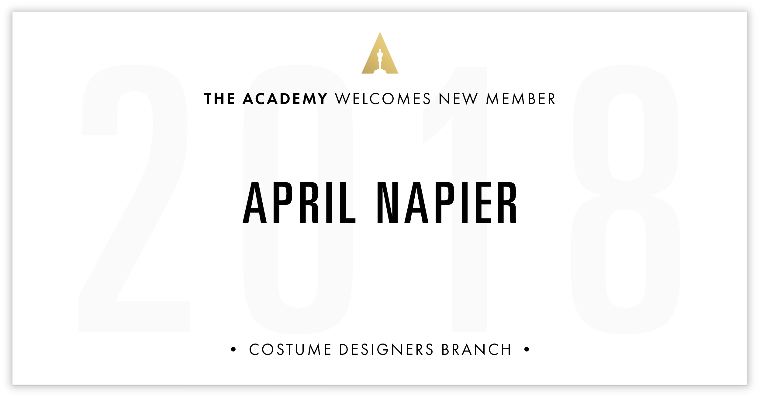 April Napier is invited!