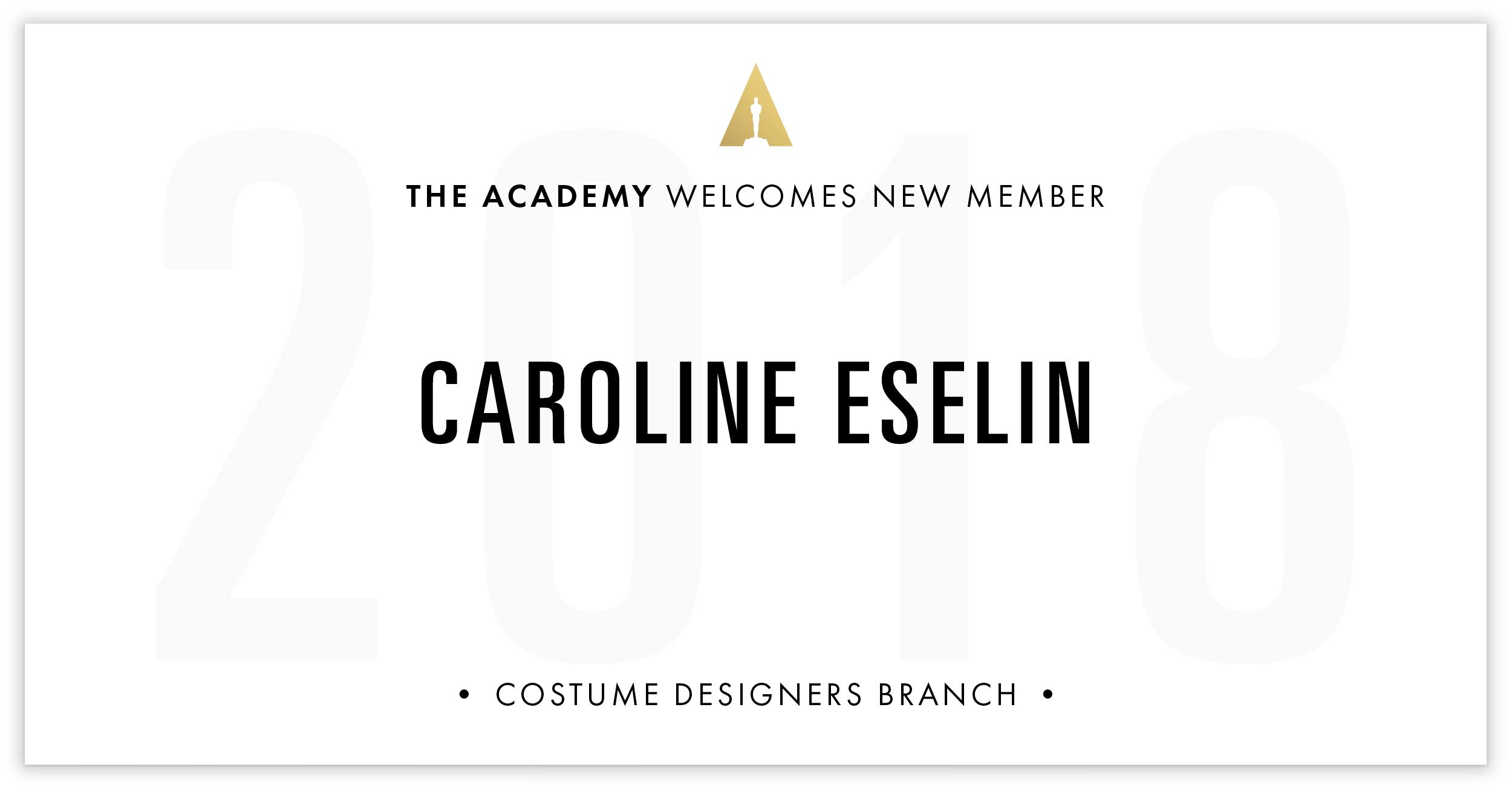 Caroline Eselin is invited!