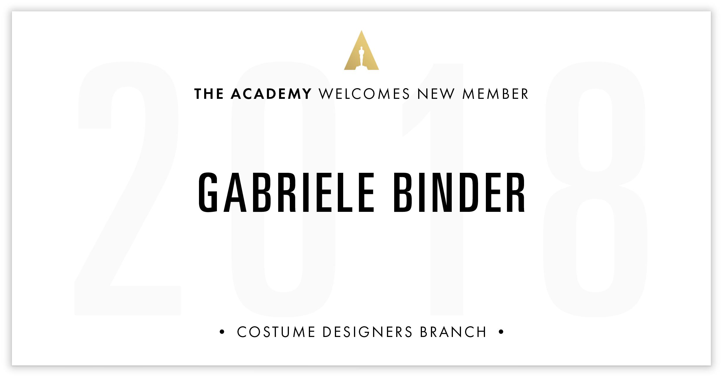 Gabriele Binder is invited!