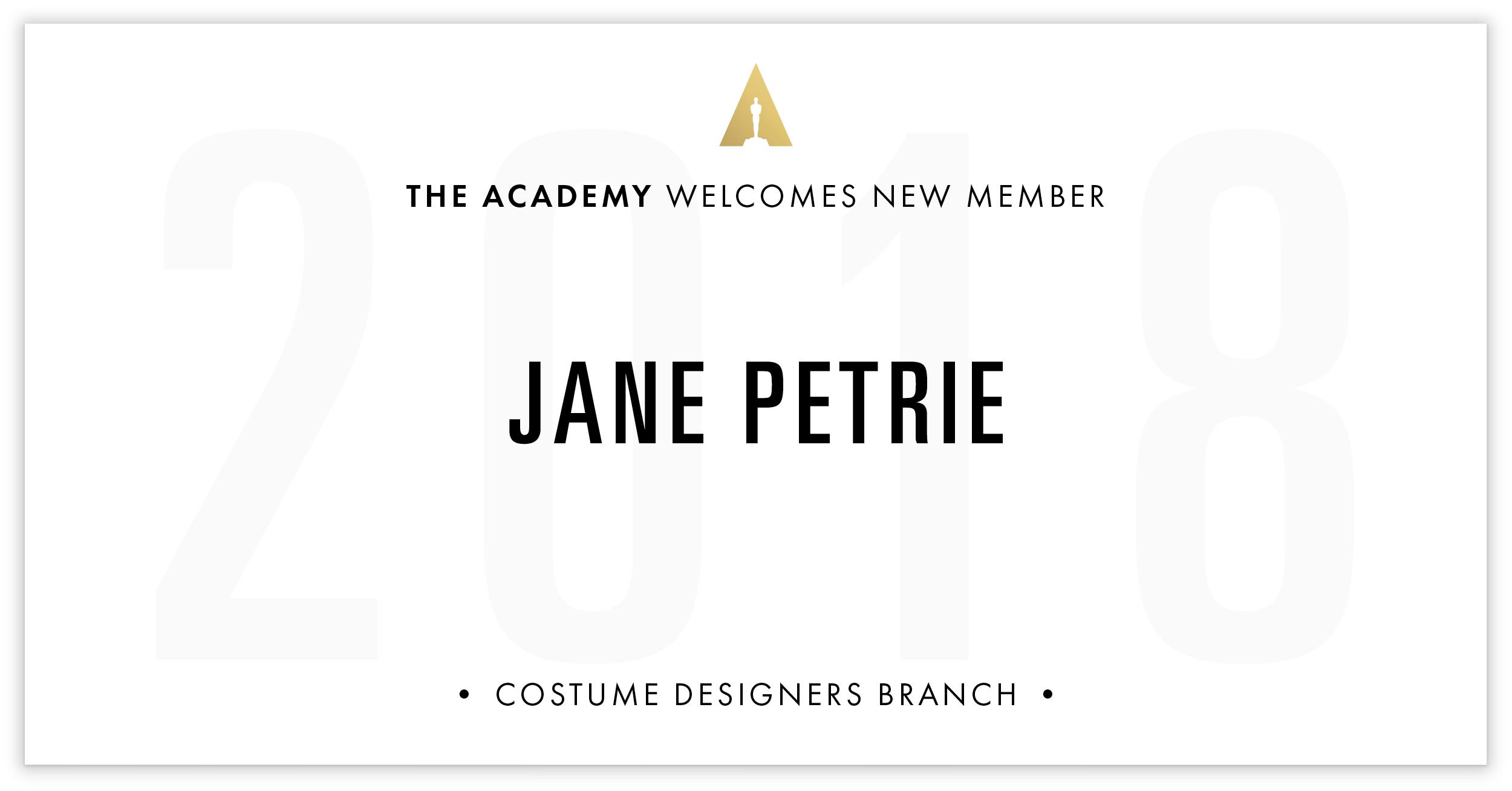 Jane Petrie is invited!